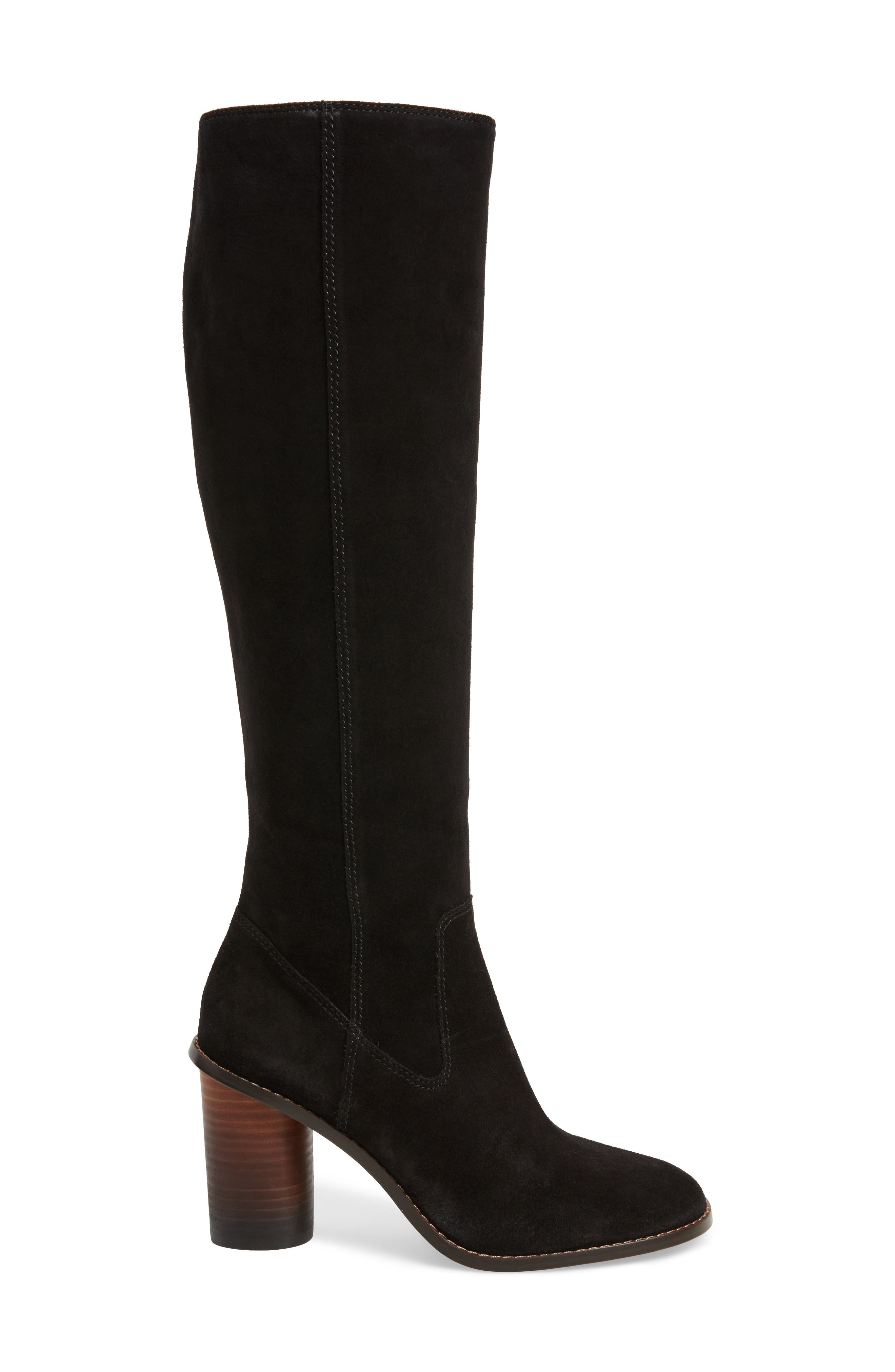 Ombré Knee High Boot,                             Alternate thumbnail 3, color,                             001