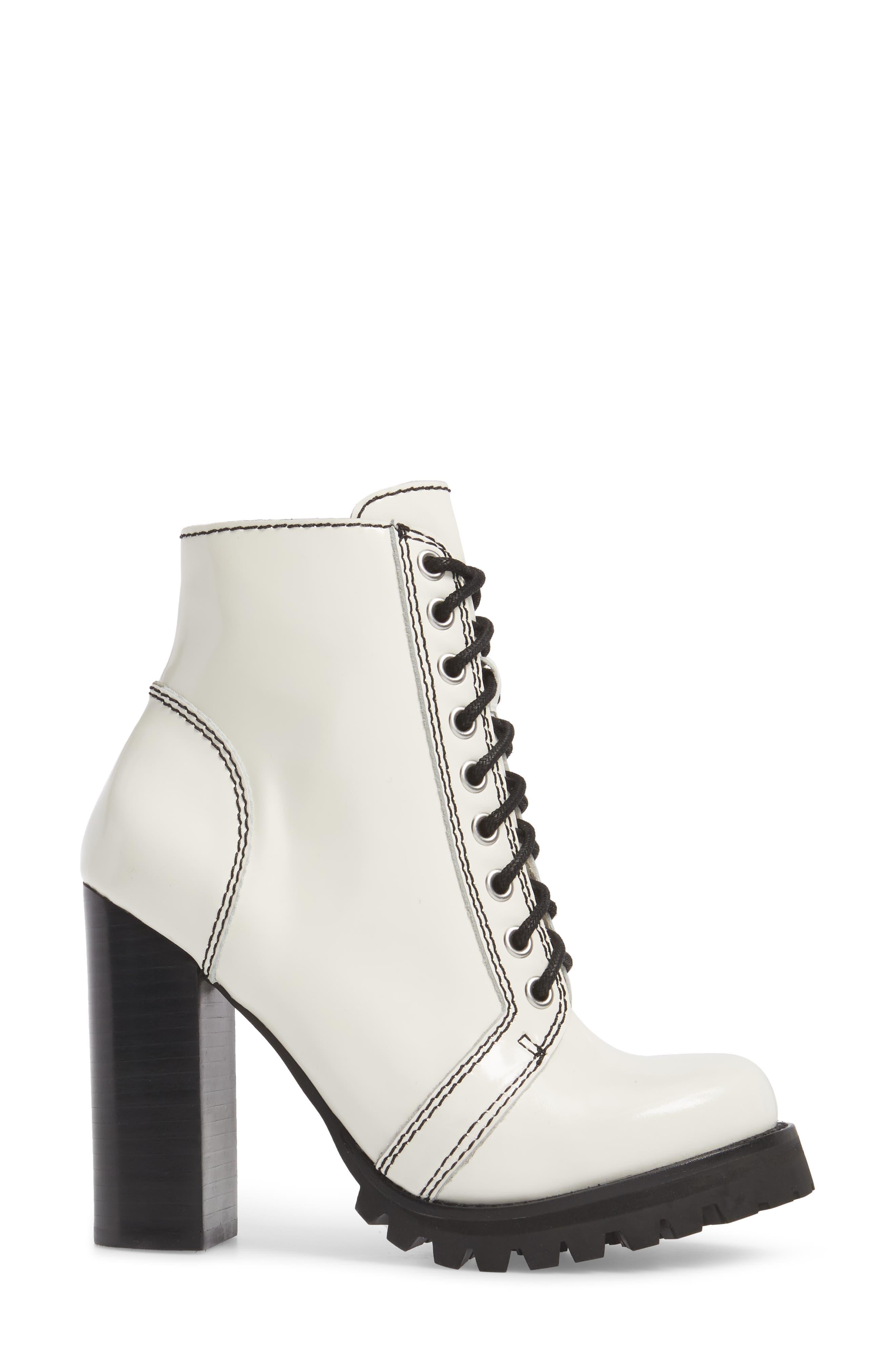 'Legion' High Heel Boot,                             Alternate thumbnail 3, color,                             WHITE BOX BLACK