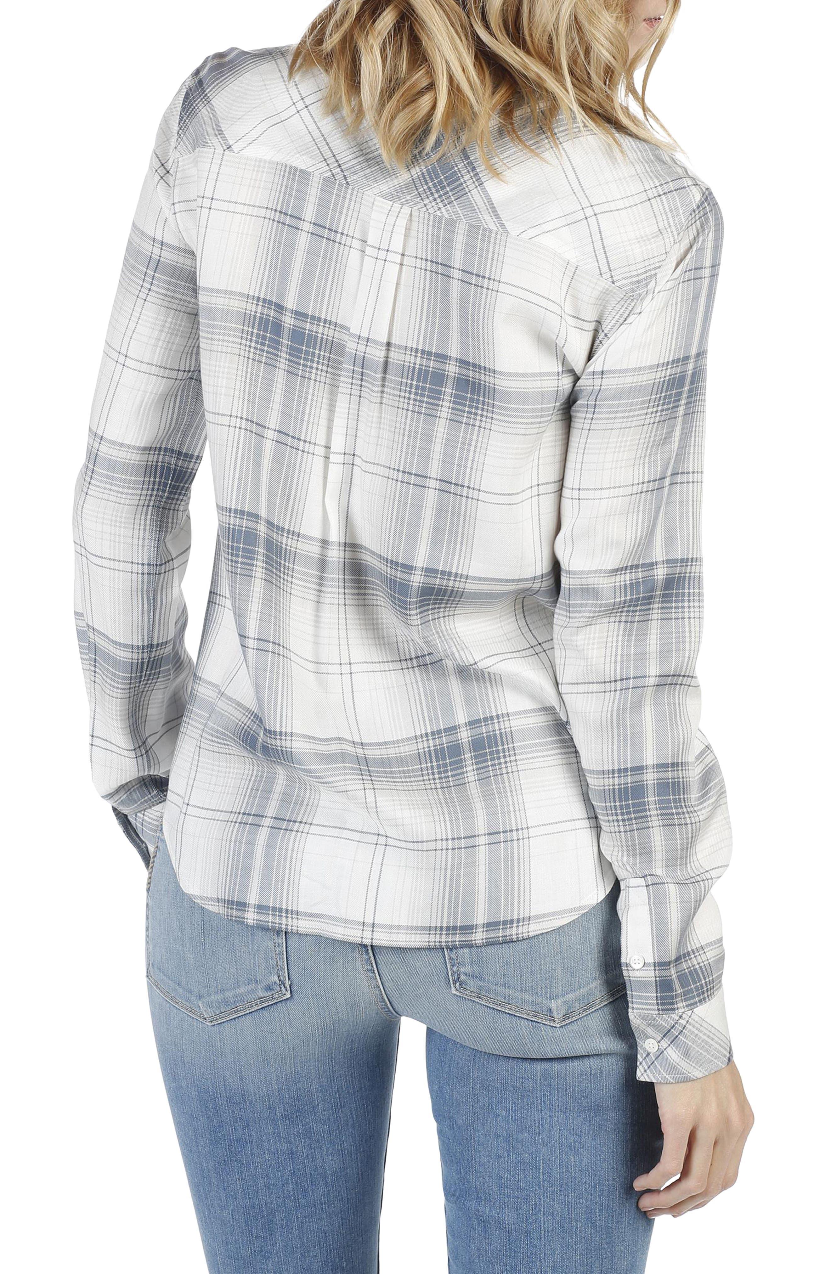 Bernette Plaid Shirt,                             Alternate thumbnail 3, color,                             001