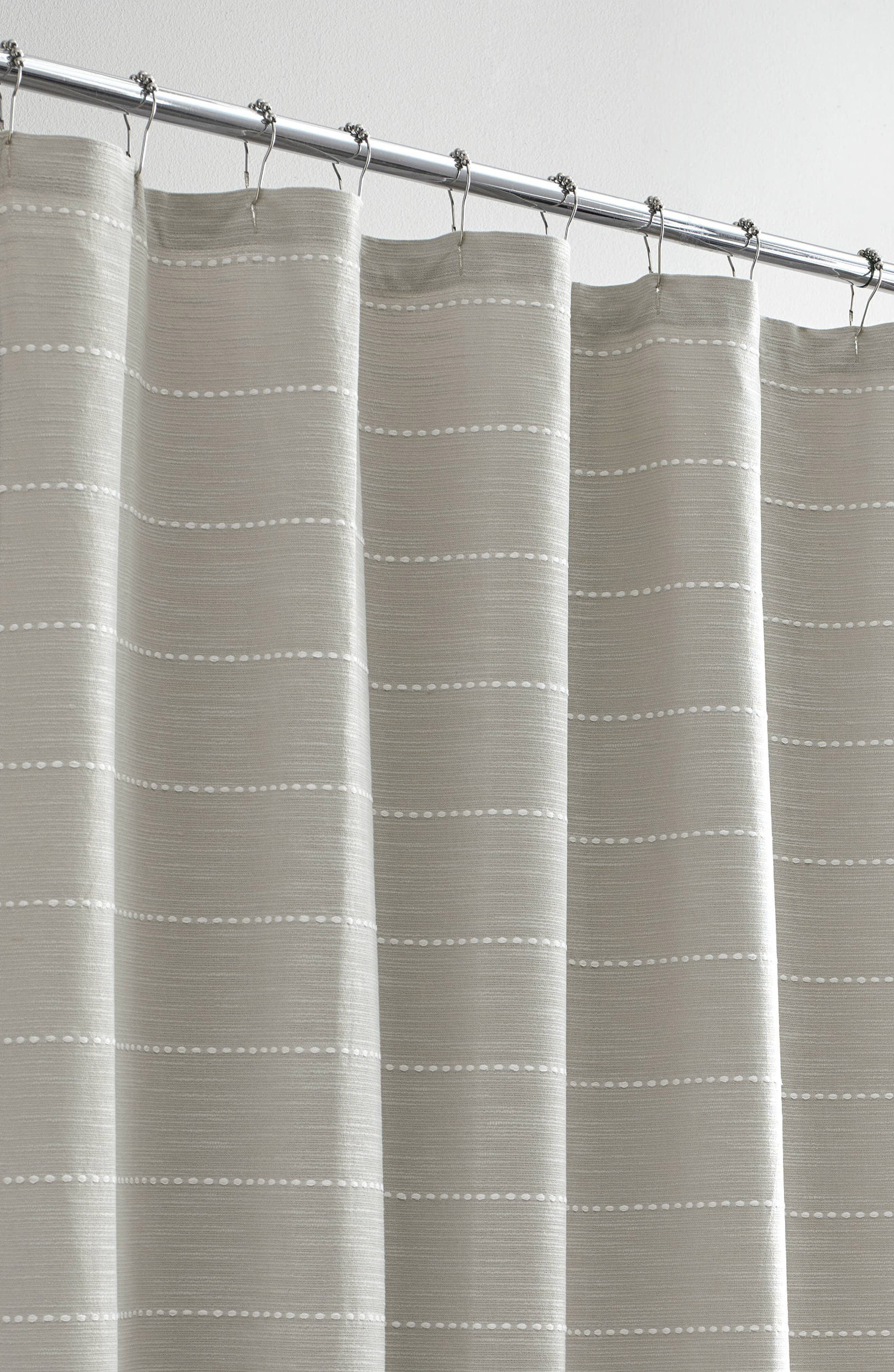 VERA WANG,                             Embroidered Stripe Shower Curtain,                             Alternate thumbnail 2, color,                             AQUARMARINE/ WHITE