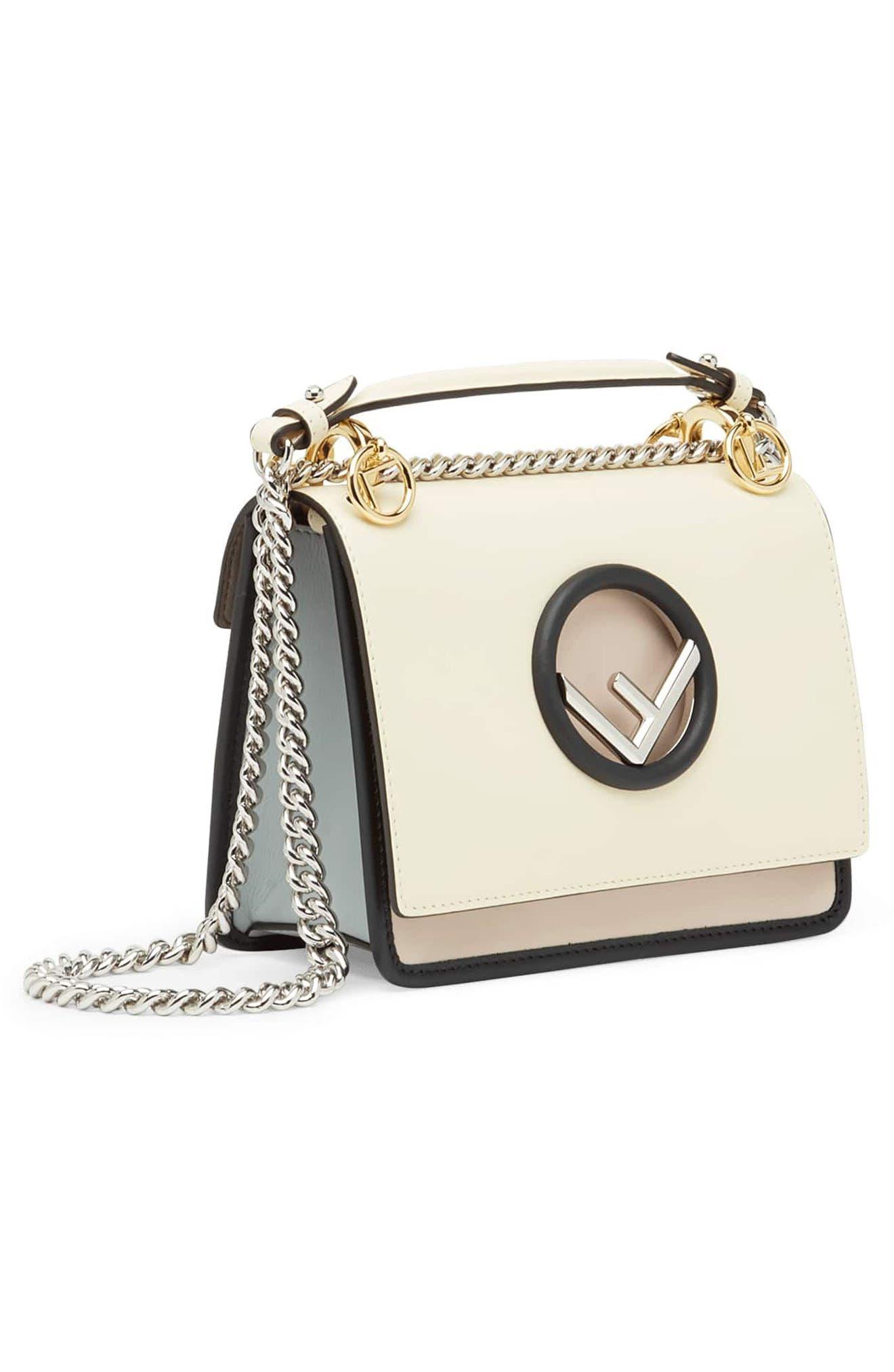 Mini Kan I Colorblock Leather Shoulder Bag,                             Alternate thumbnail 4, color,                             650