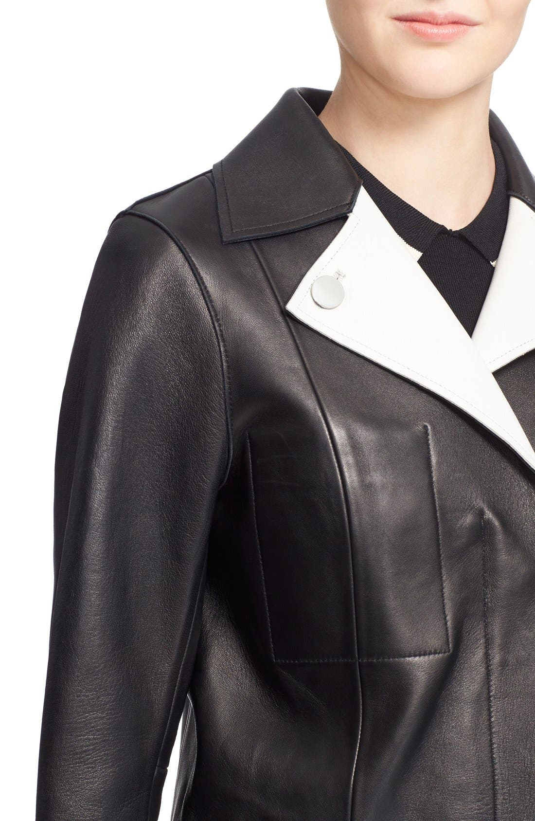 GREY Jason Wu Lambskin Leather Jacket,                             Alternate thumbnail 2, color,                             015
