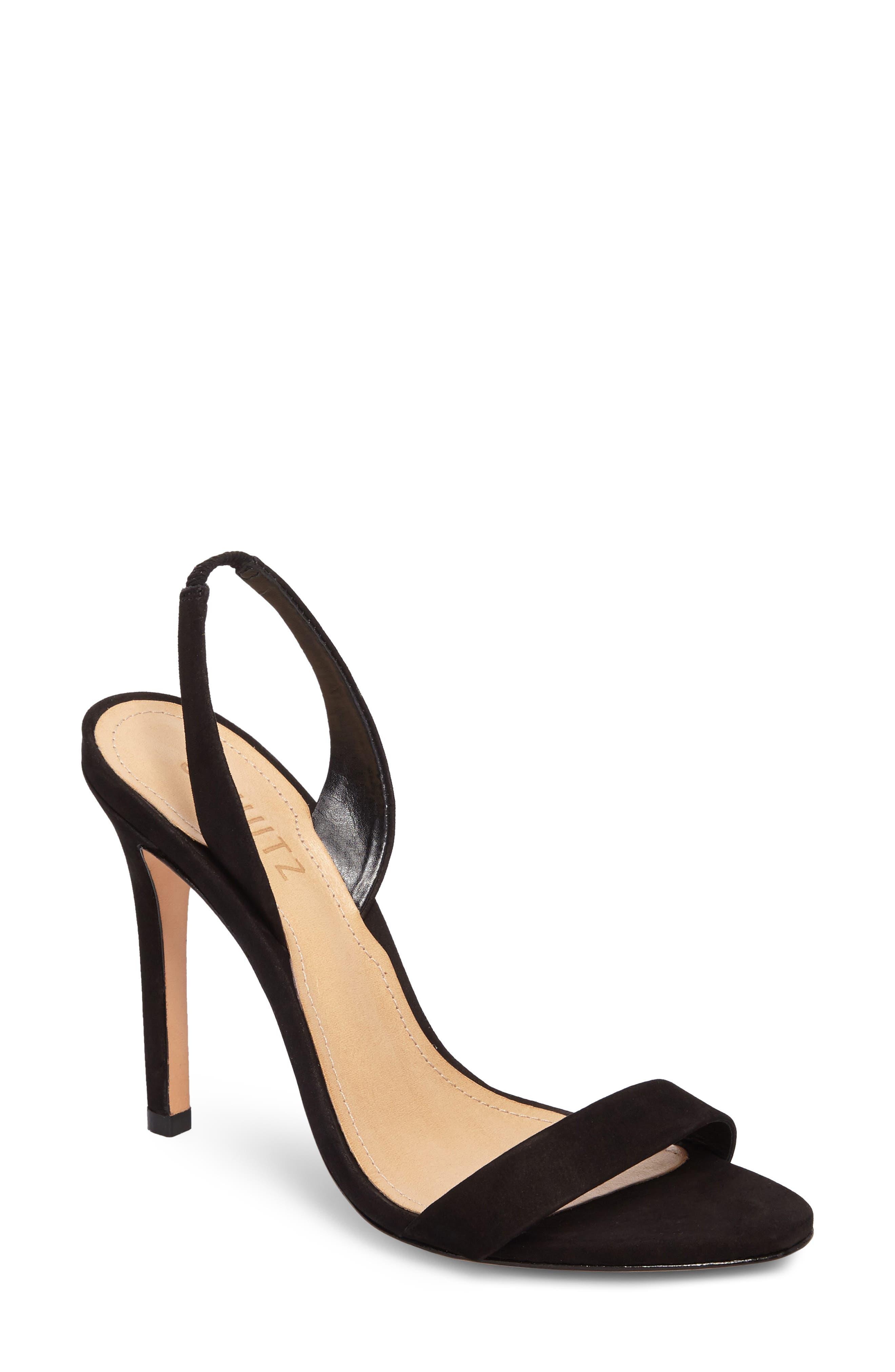 Luriane Sandal,                             Main thumbnail 1, color,                             BLACK NUBUCK LEATHER