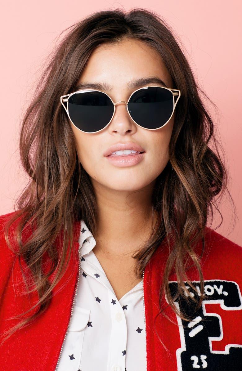ea8f078f56 Sonix Ibiza 55mm Mirrored Round Sunglasses