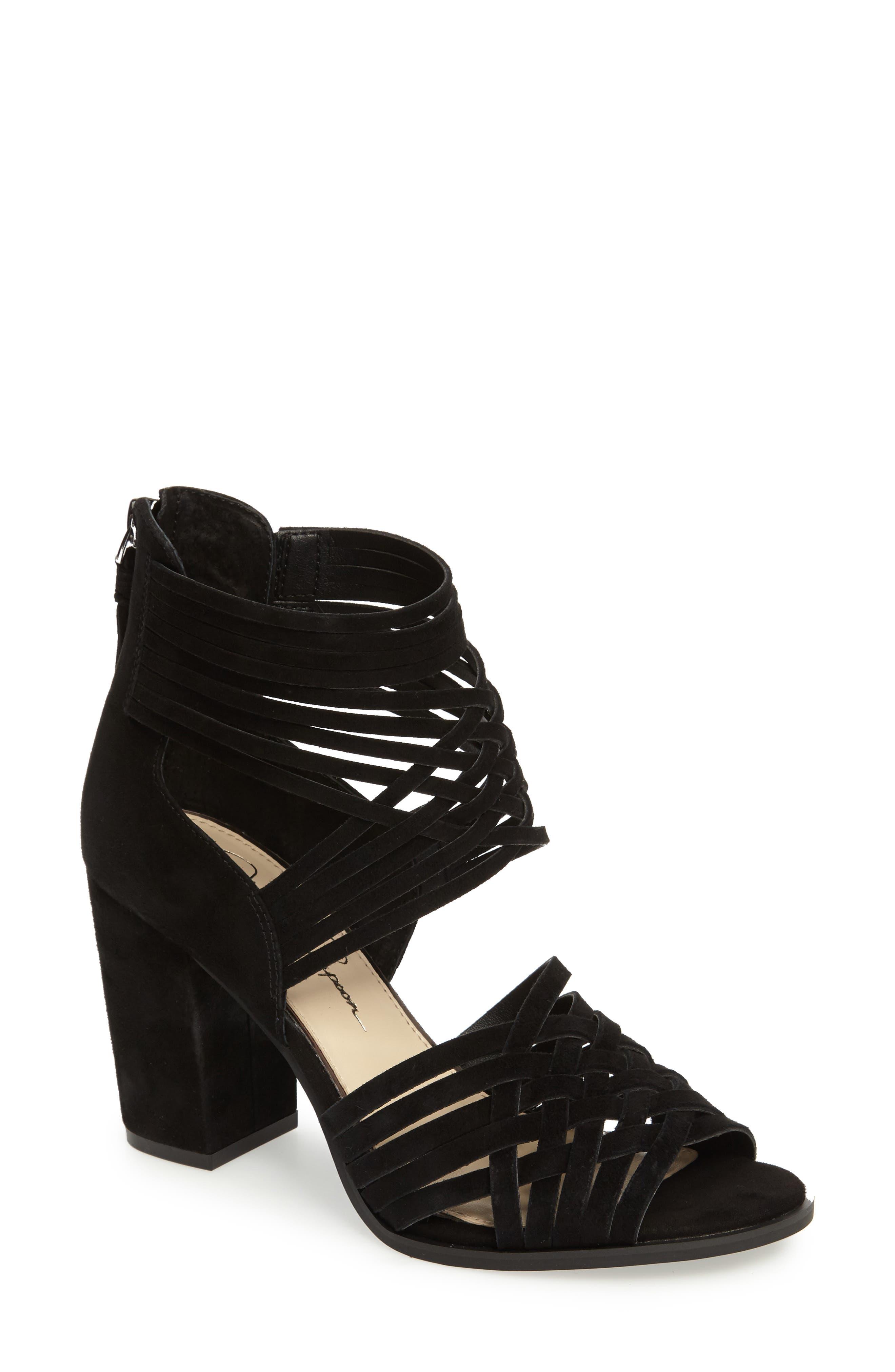 Reilynn Woven Sandal,                         Main,                         color, 001