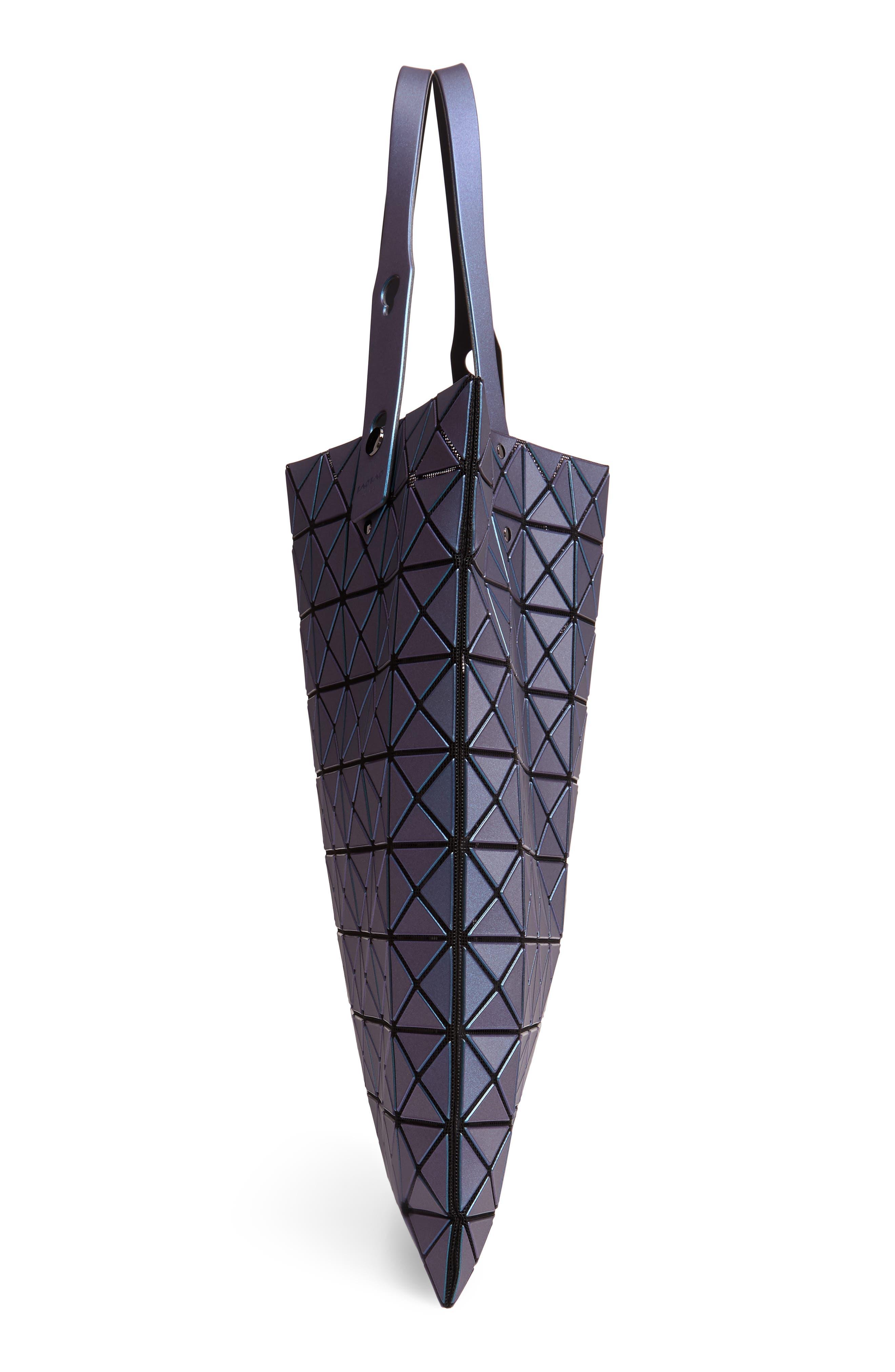 Prism Metallic Tote Bag,                             Alternate thumbnail 5, color,                             BLUE