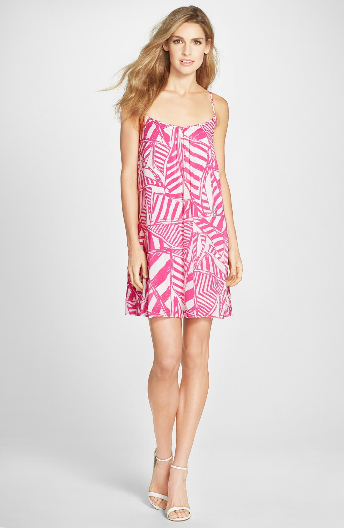 LILLY PULITZER<SUP>®</SUP>,                             'Daphne' Print Trapeze Dress,                             Alternate thumbnail 4, color,                             659