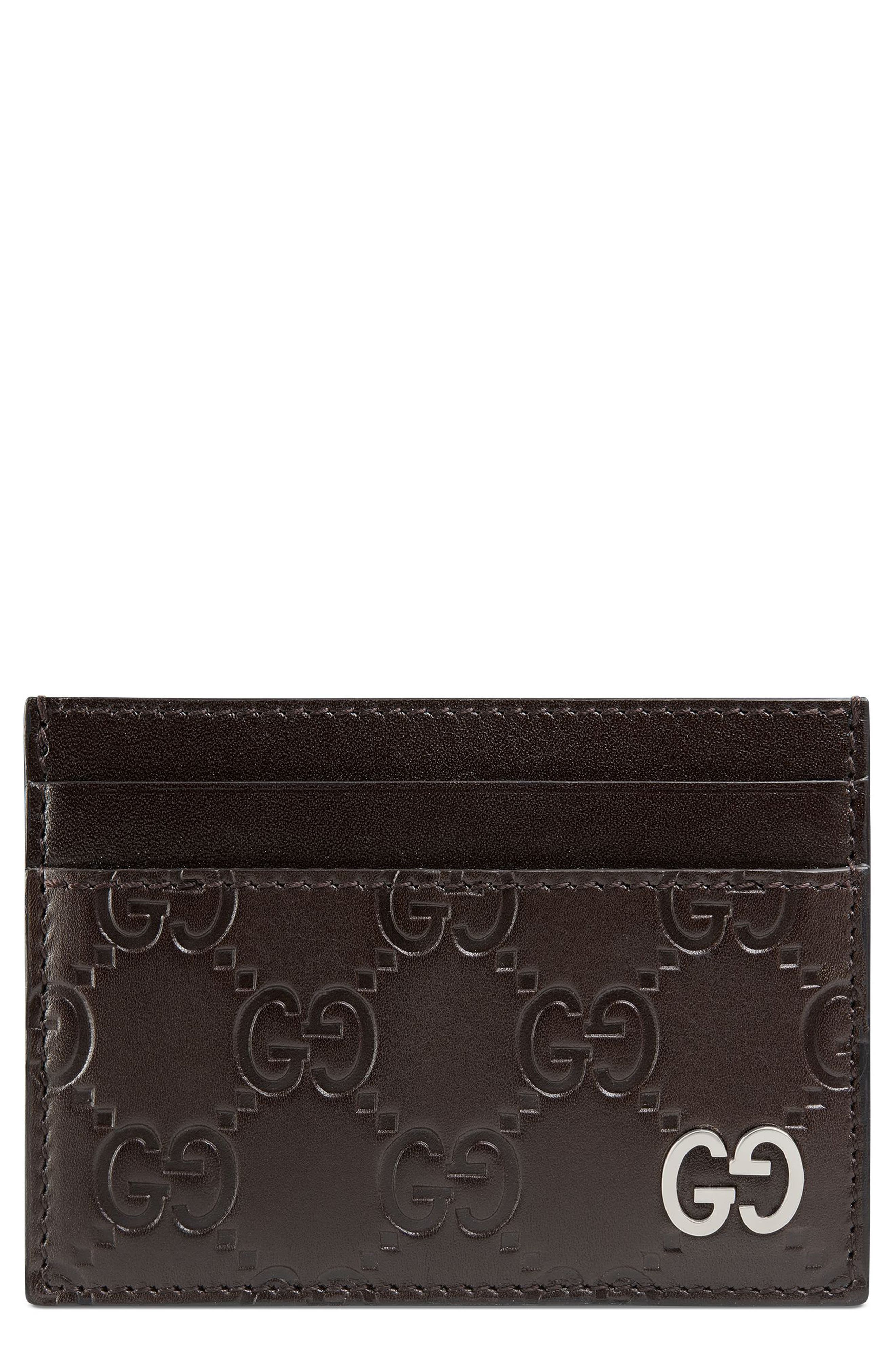 Dorian Leather Card Case,                         Main,                         color, BROWN