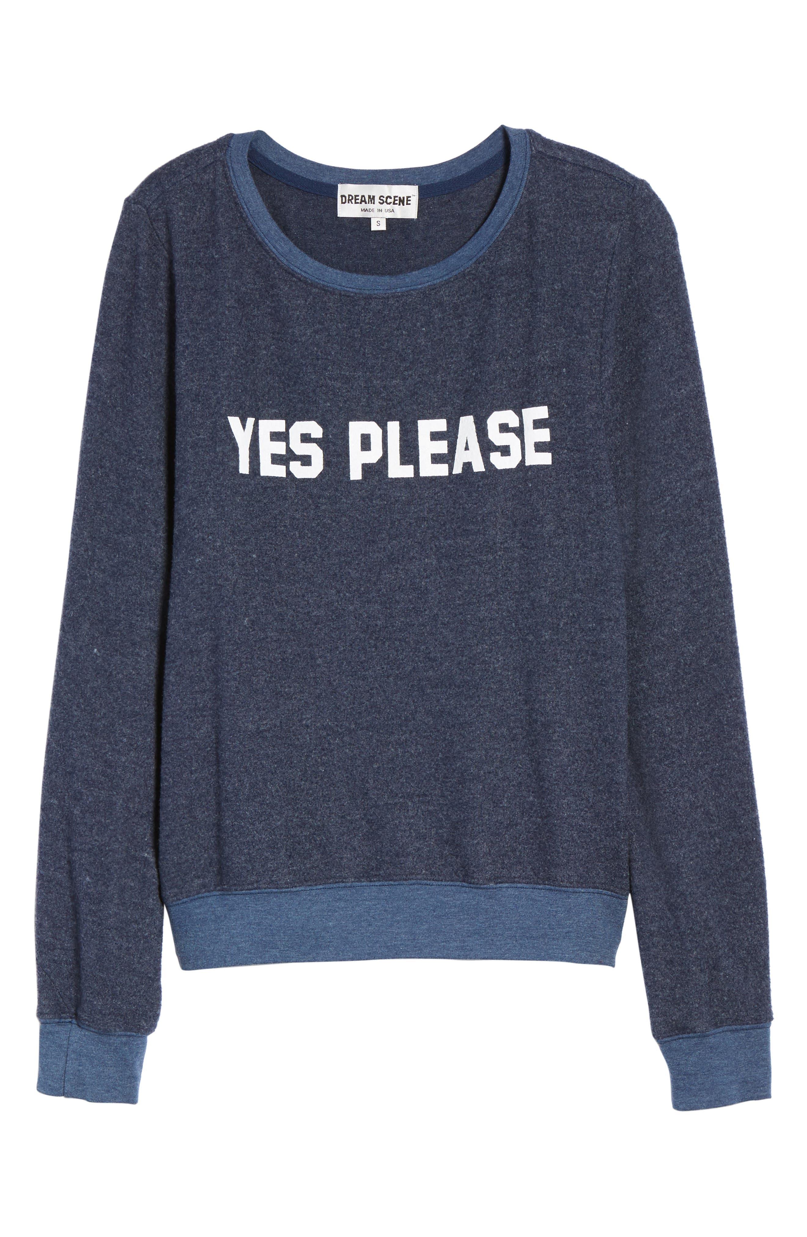Yes, Please Sweatshirt,                             Alternate thumbnail 6, color,                             401