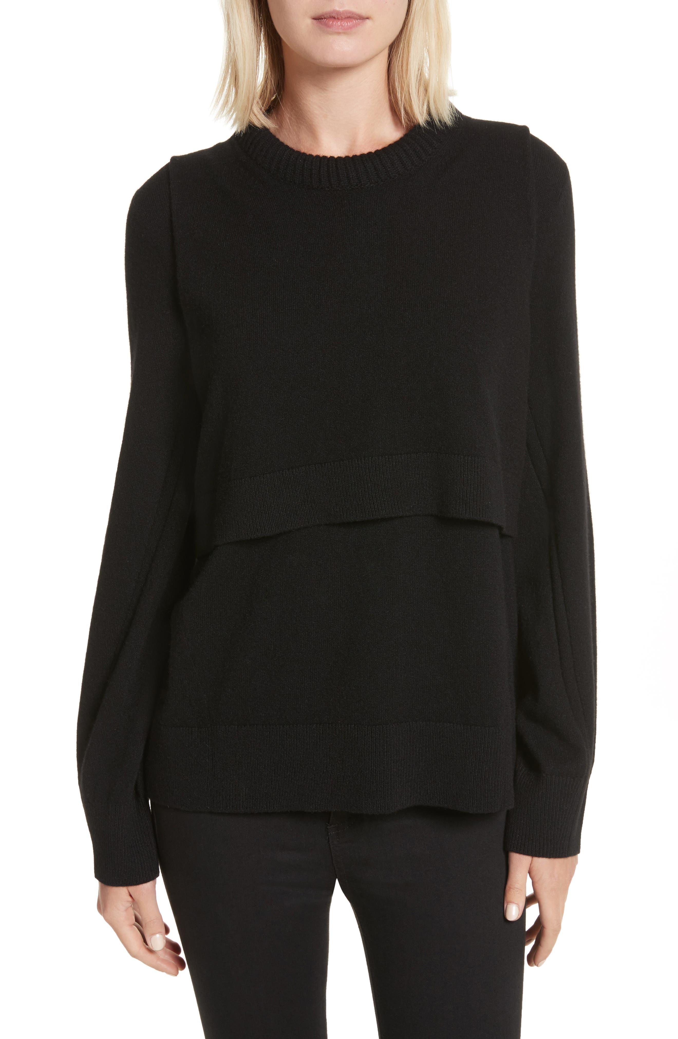 Preston Cashmere Crewneck Sweater,                         Main,                         color, 001