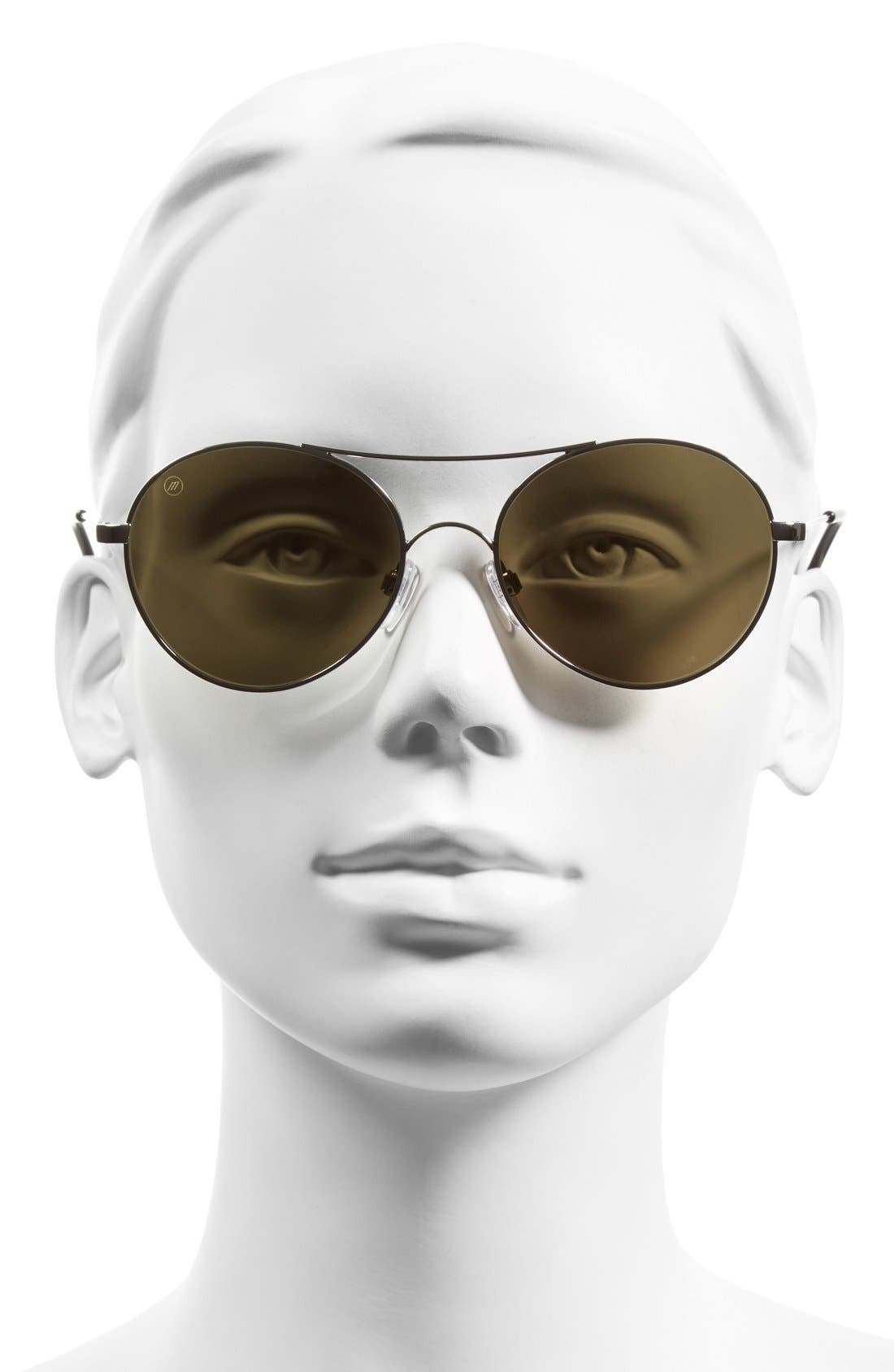 'Huxley' 53mm Round Sunglasses,                             Alternate thumbnail 2, color,                             040