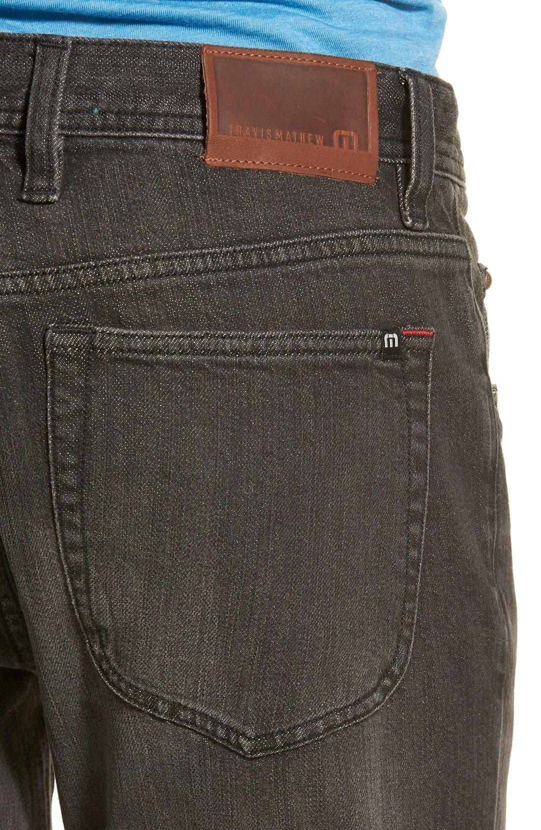 'Duke' Relaxed Fit Jeans,                             Alternate thumbnail 4, color,                             002