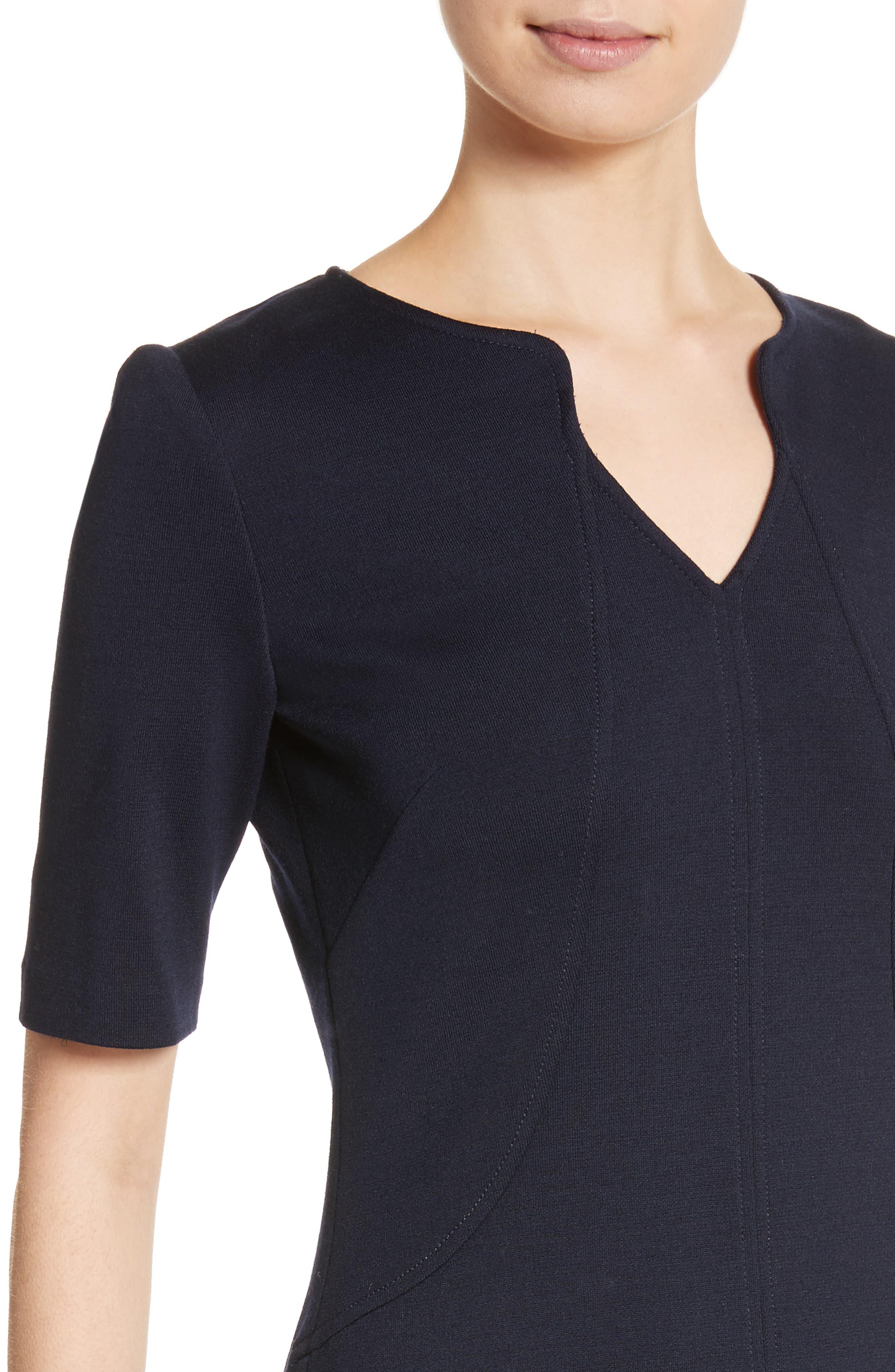 Milano Knit A-Line Dress,                             Alternate thumbnail 4, color,                             410