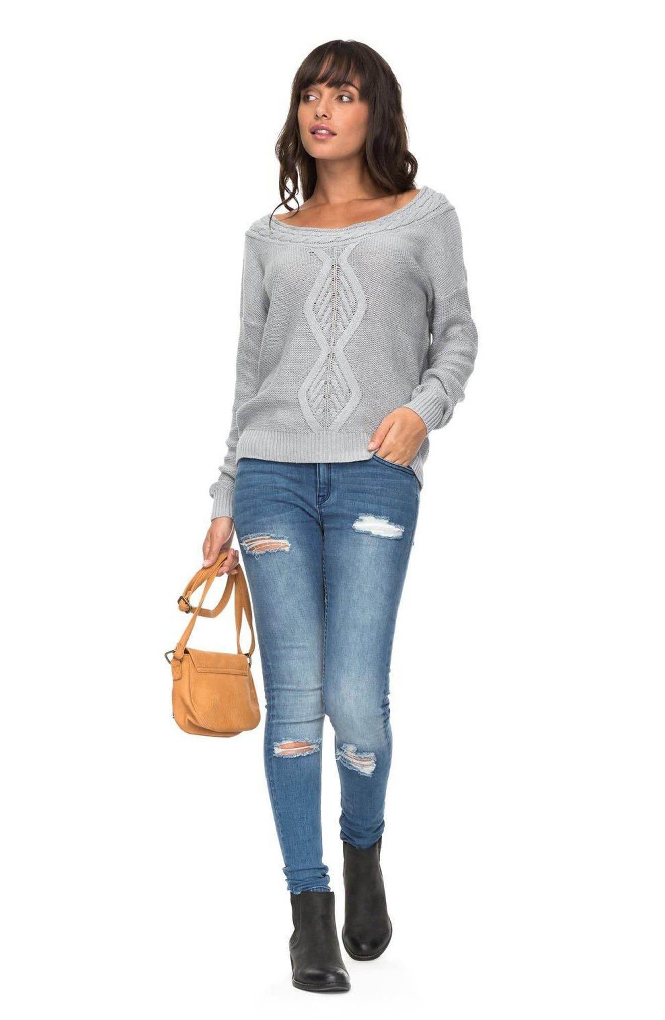 ROXY,                             Choose to Shine Sweater,                             Alternate thumbnail 4, color,                             037