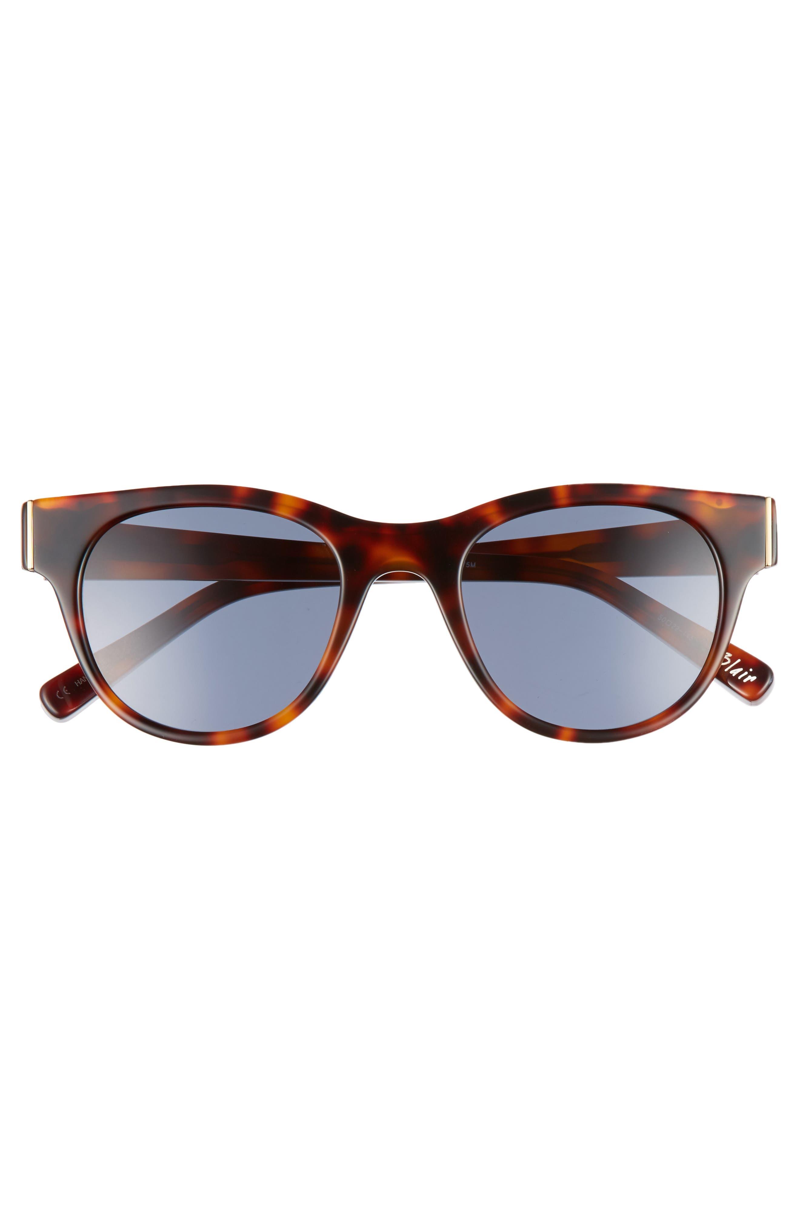 Blair 50mm Cat Eye Sunglasses,                             Alternate thumbnail 3, color,                             020