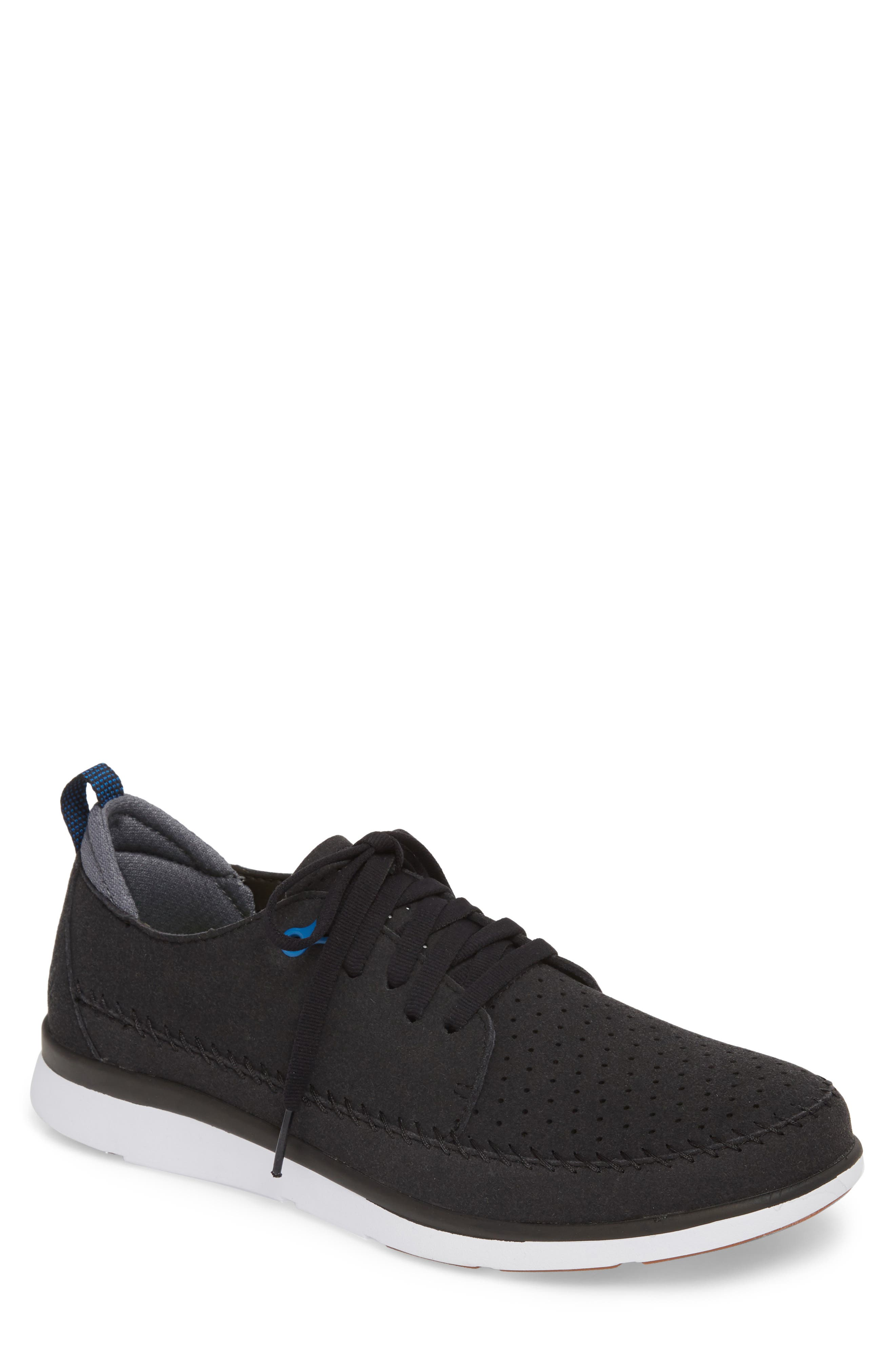 Worldwide Crane Perforated Sneaker,                         Main,                         color, BLACK