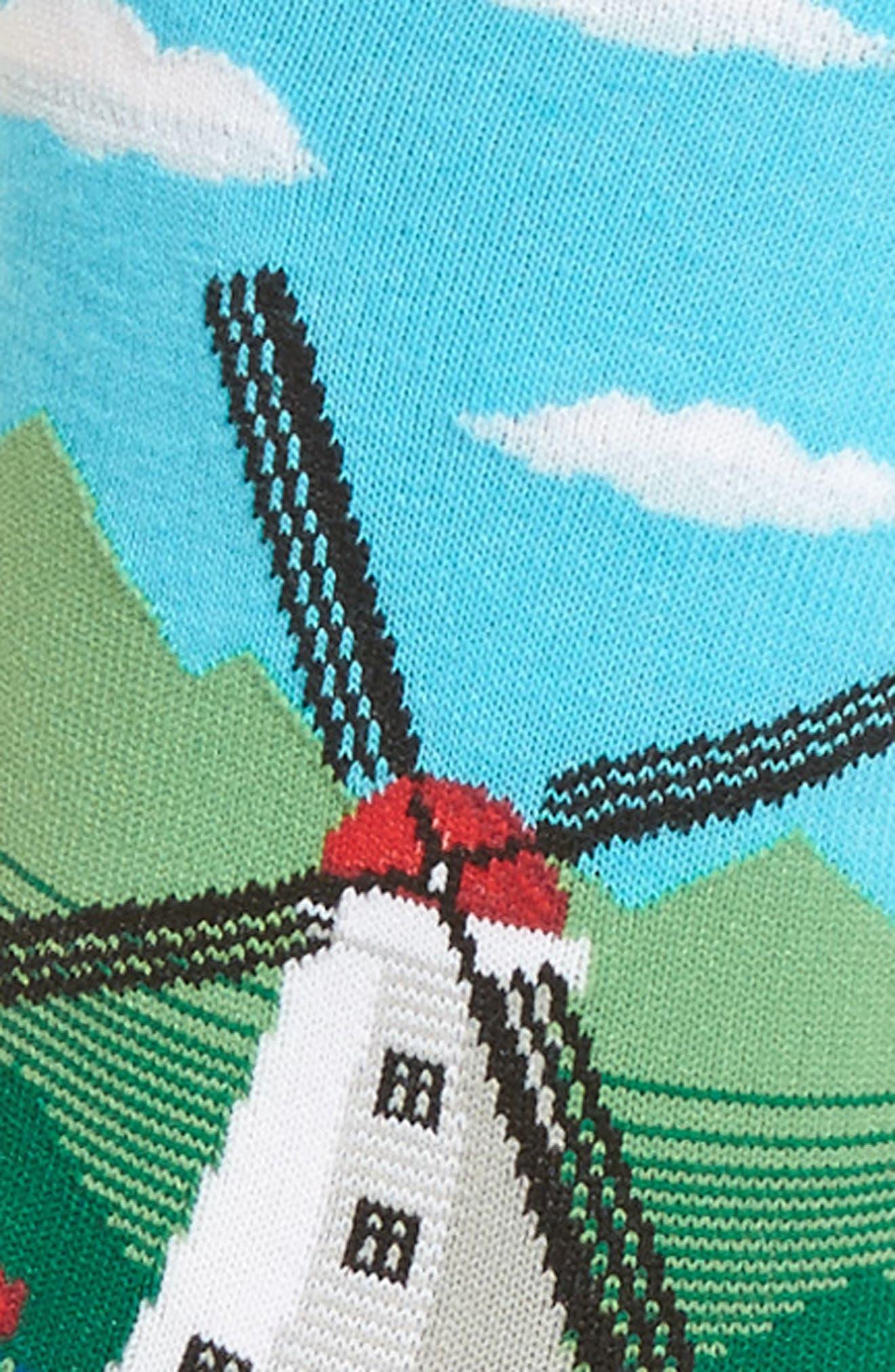 Windmill Crew Socks,                             Alternate thumbnail 3, color,                             468