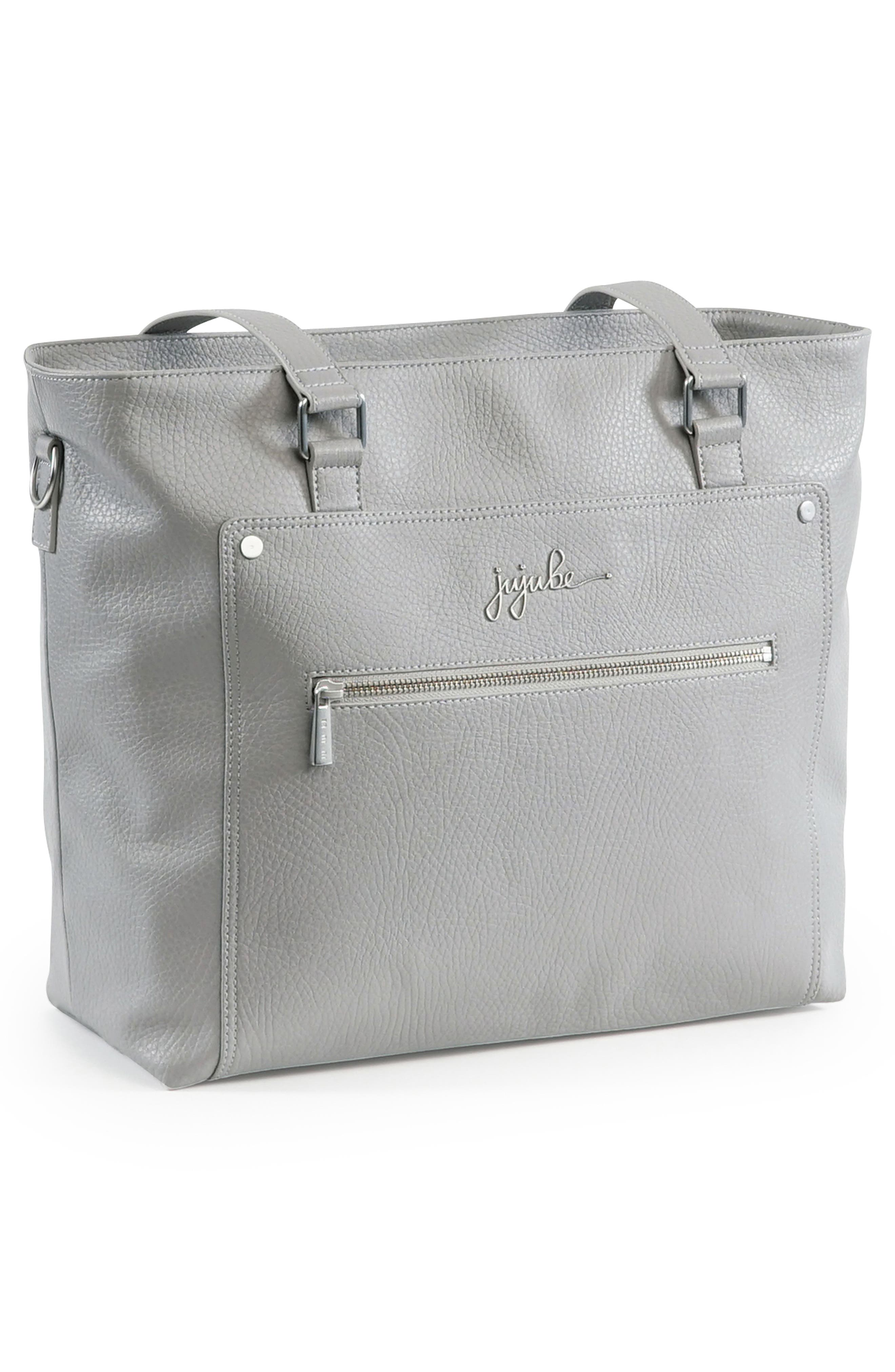Ever Collection Everyday Faux Leather Diaper Tote,                             Alternate thumbnail 3, color,                             STONE