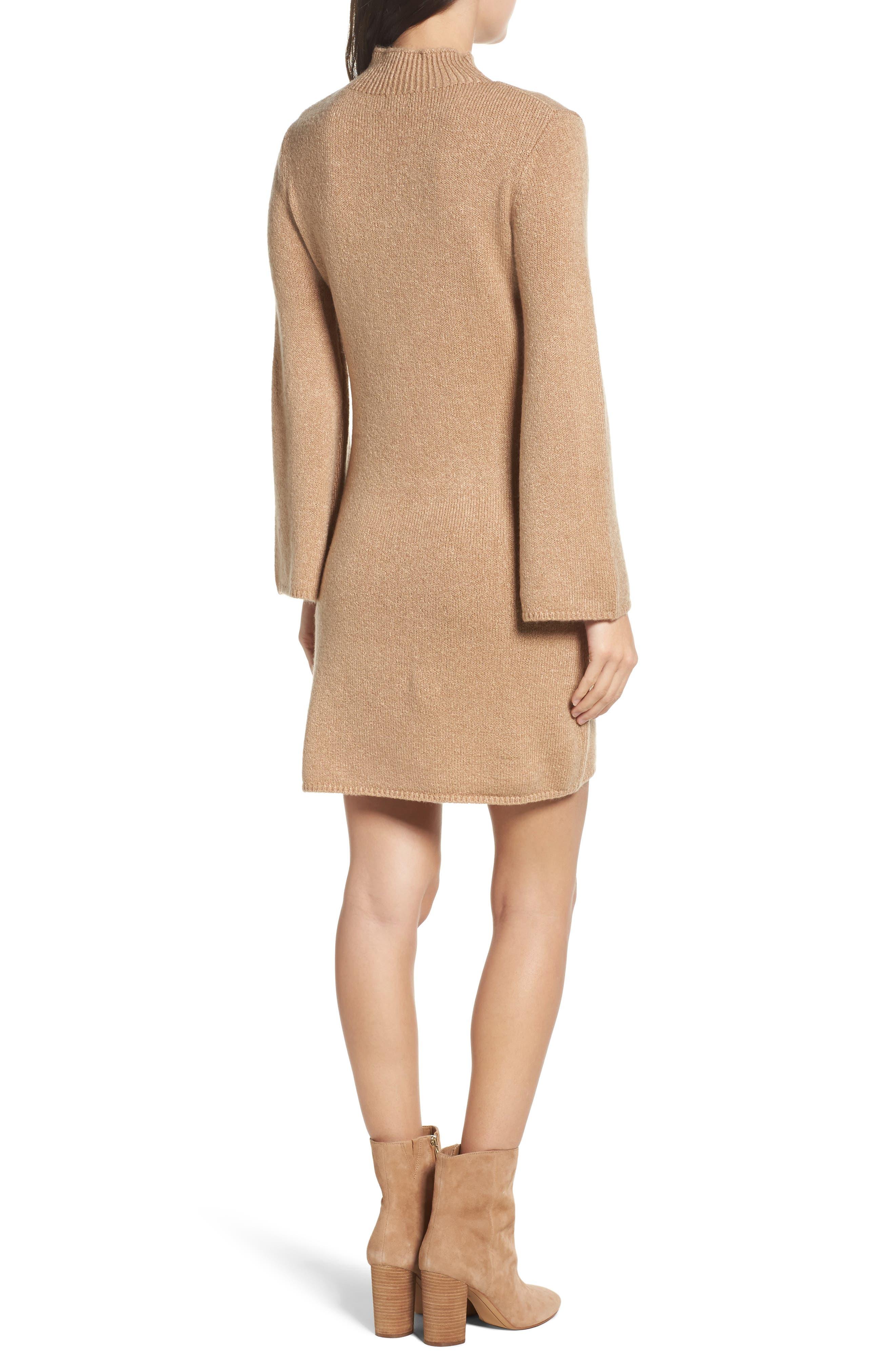Bell Sleeve Knit Dress,                             Alternate thumbnail 2, color,                             208