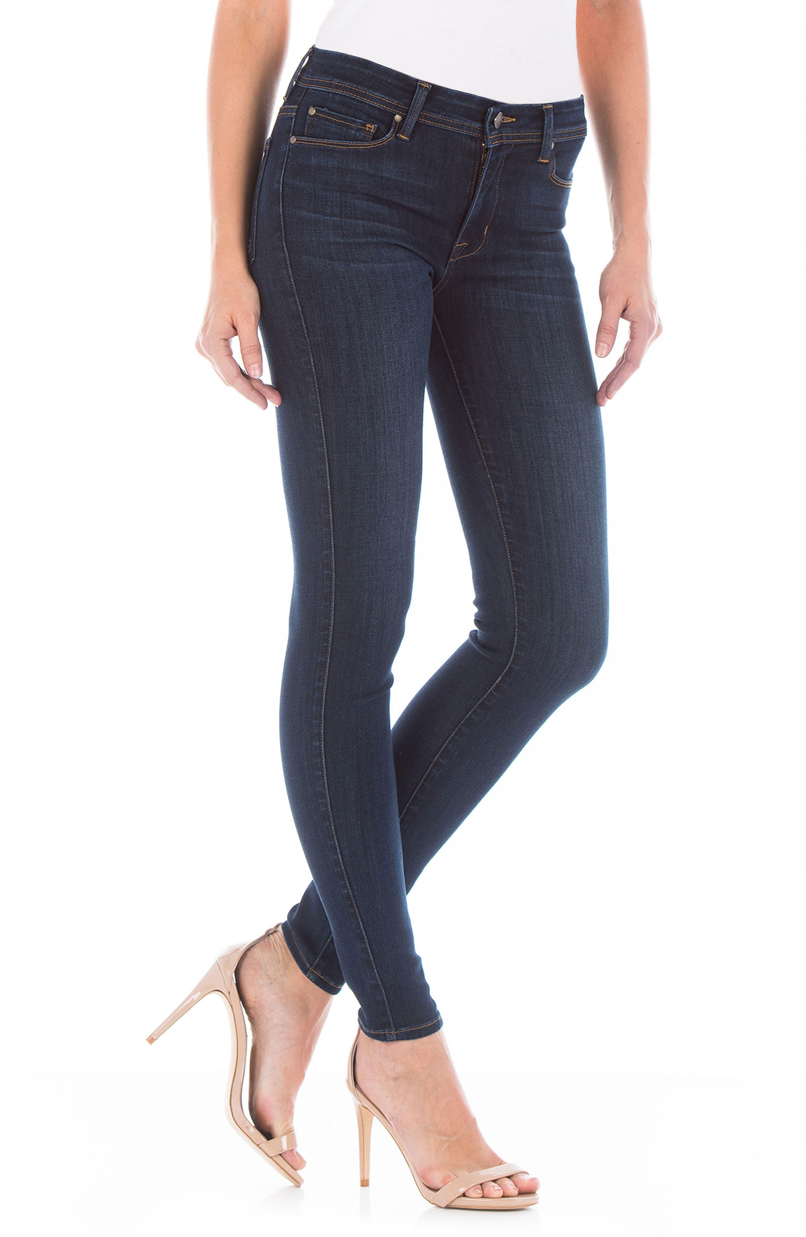 Belvedere Skinny Jeans,                             Alternate thumbnail 3, color,                             400