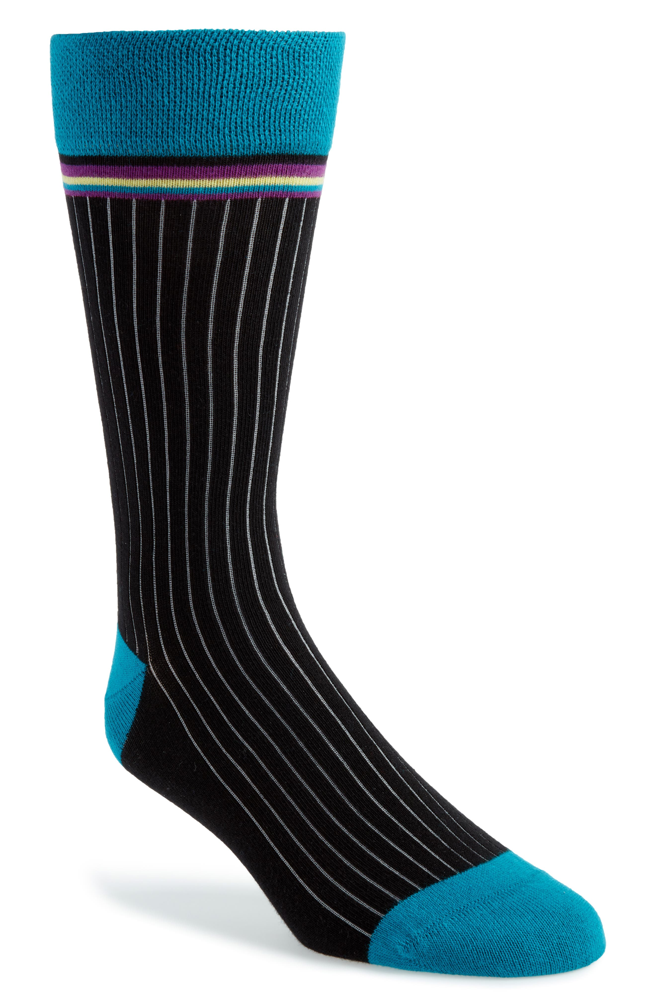 TED BAKER LONDON Pegbra Stripe Socks, Main, color, 001