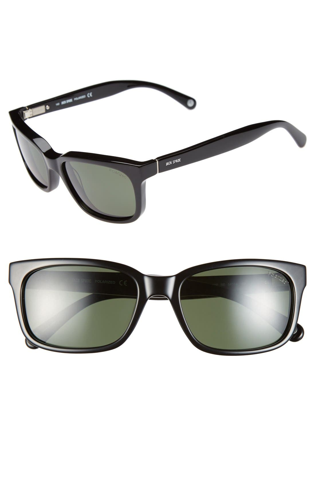 'Payne' 54mm Polarized Sunglasses, Main, color, 001