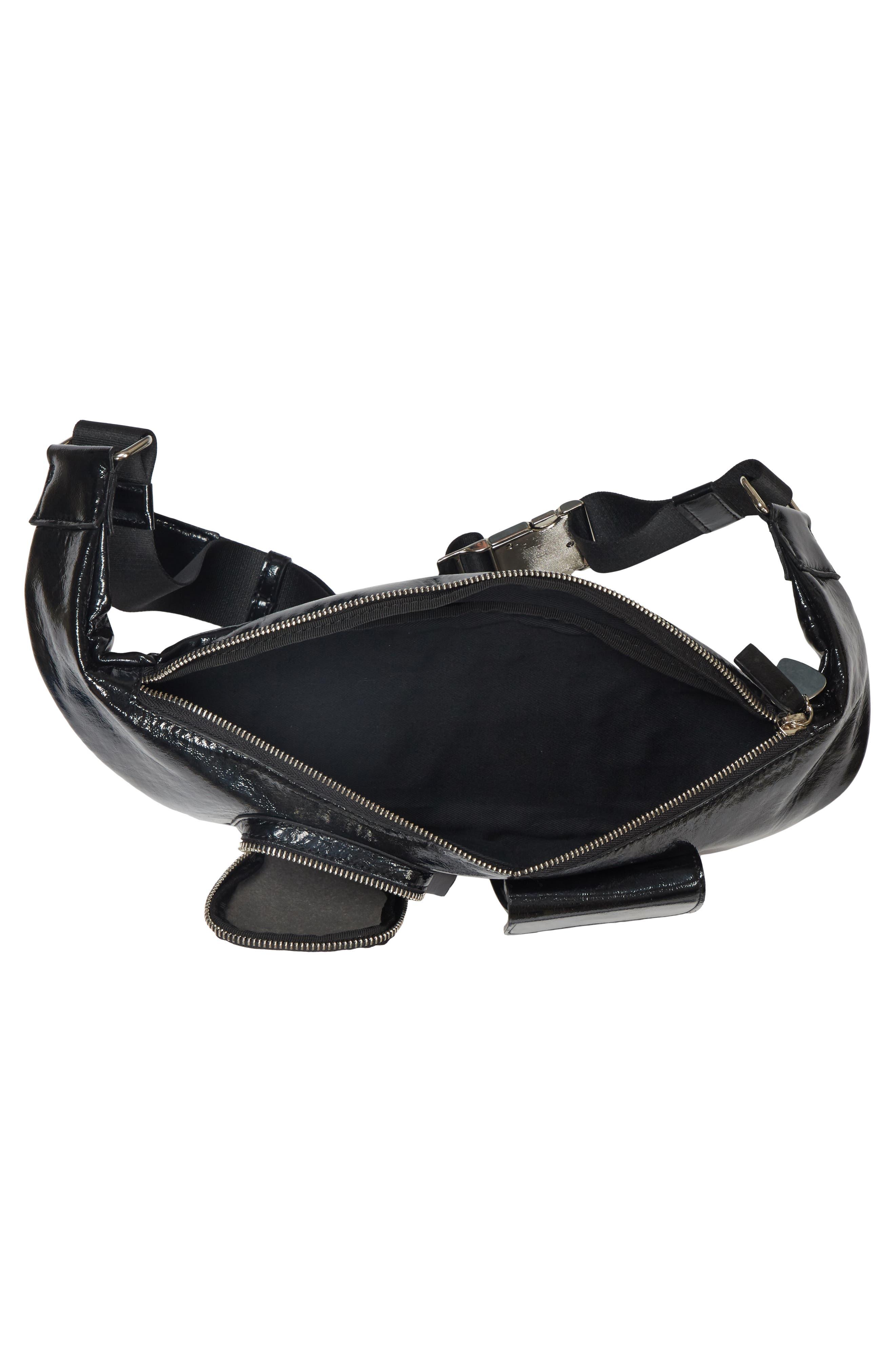 Major Convertible Belt Bag,                             Alternate thumbnail 4, color,                             BLACK PATENT
