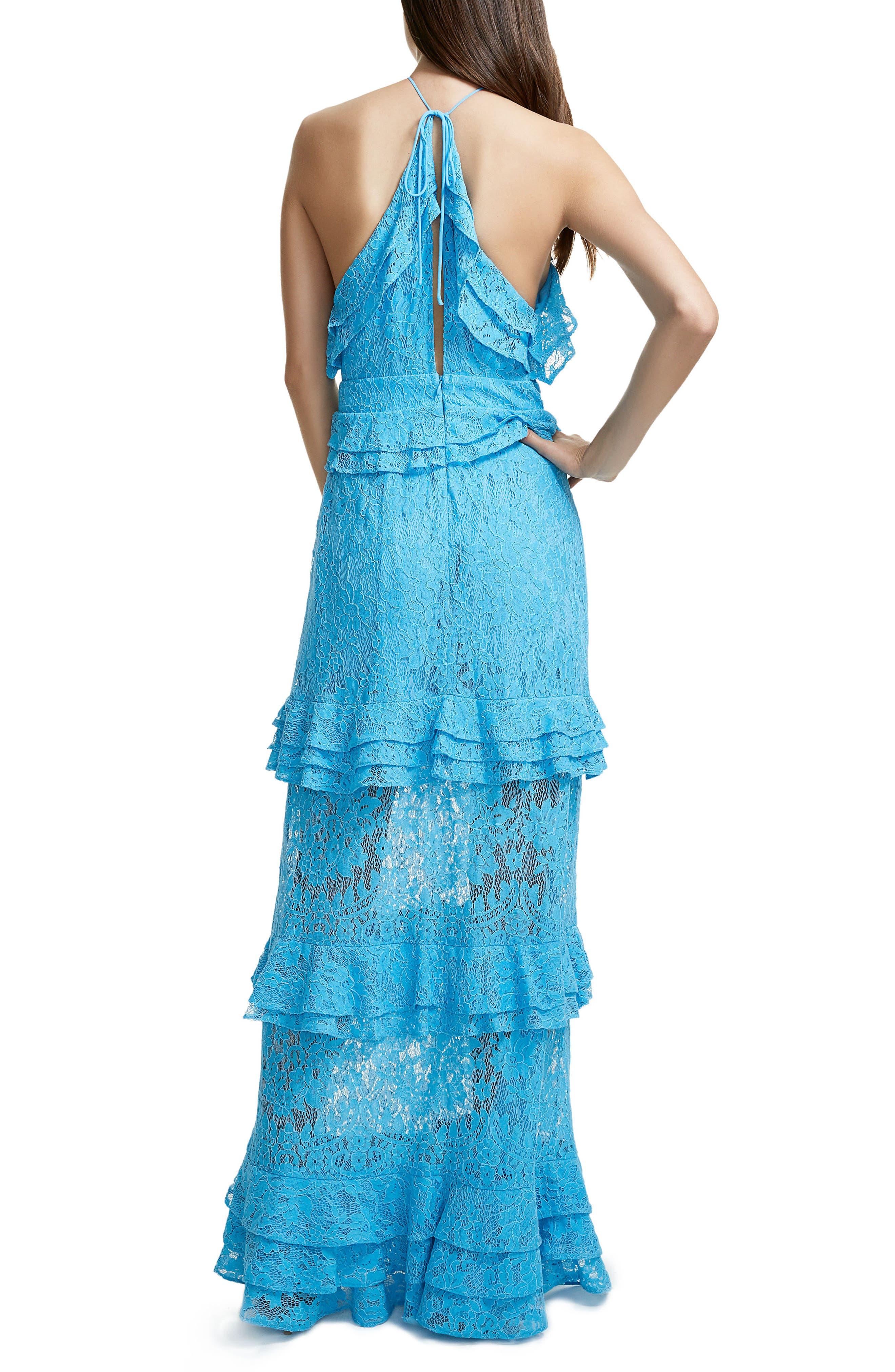 Violet Ruffle Maxi Dress,                             Alternate thumbnail 2, color,