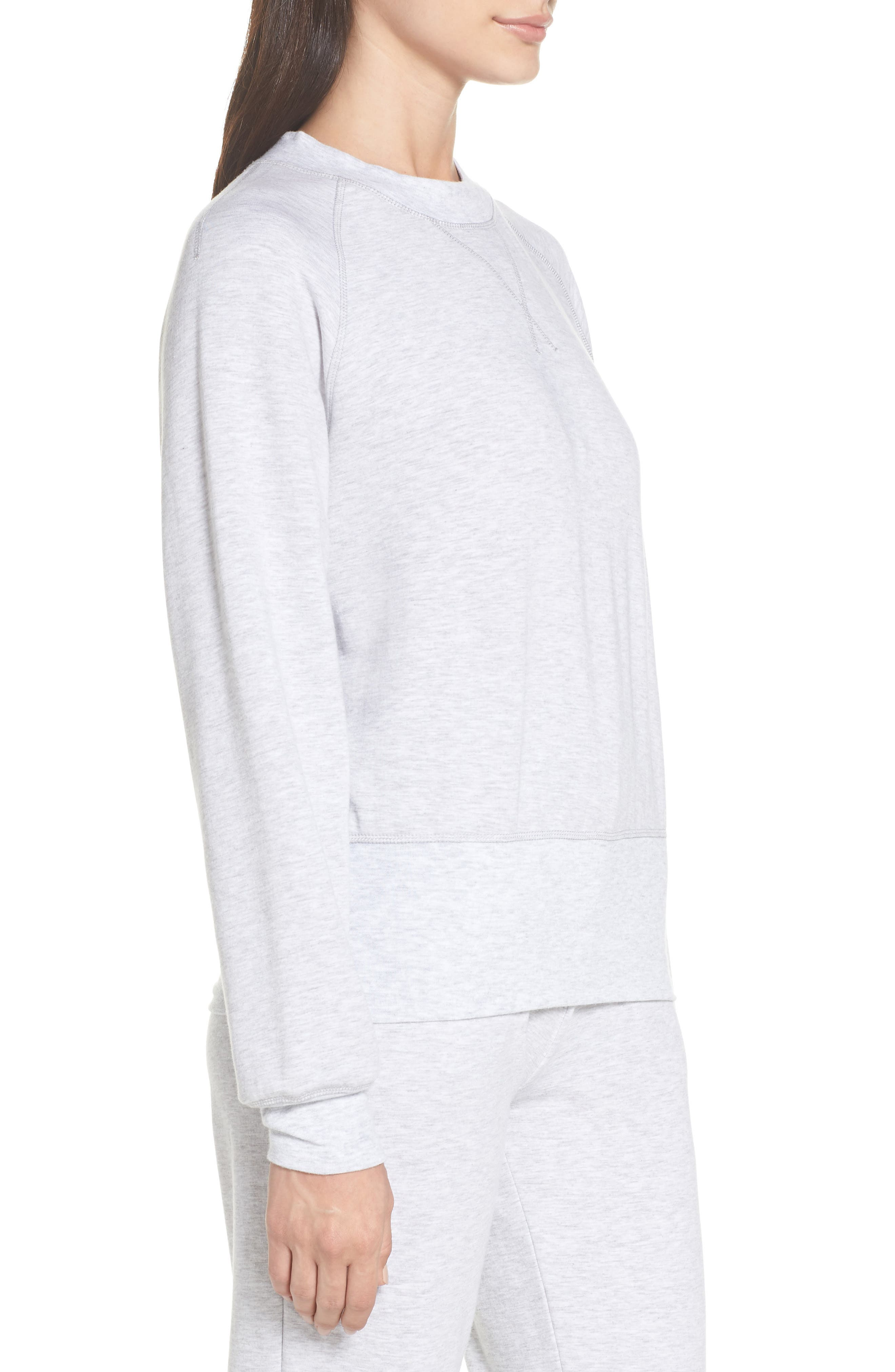 Cool Touch Sweatshirt,                             Alternate thumbnail 3, color,                             GREY
