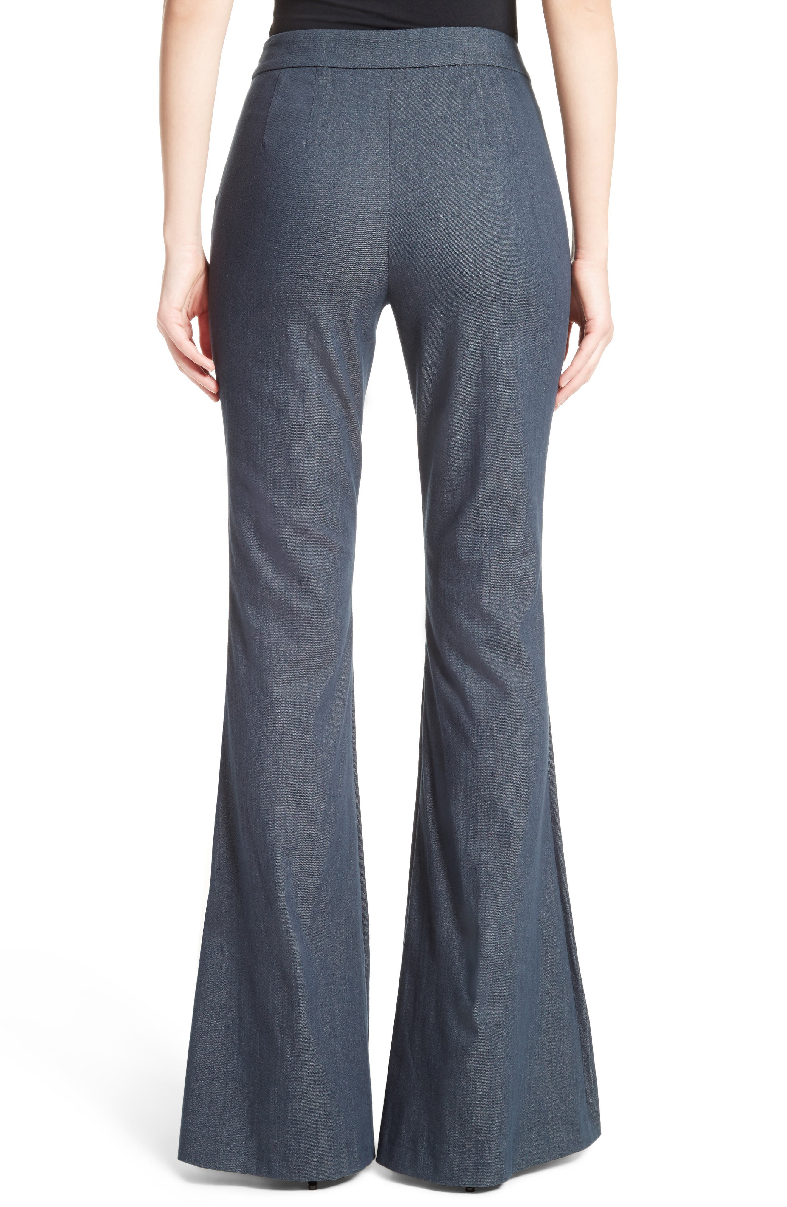 Stretch Denim Flare Pants,                             Alternate thumbnail 2, color,                             400