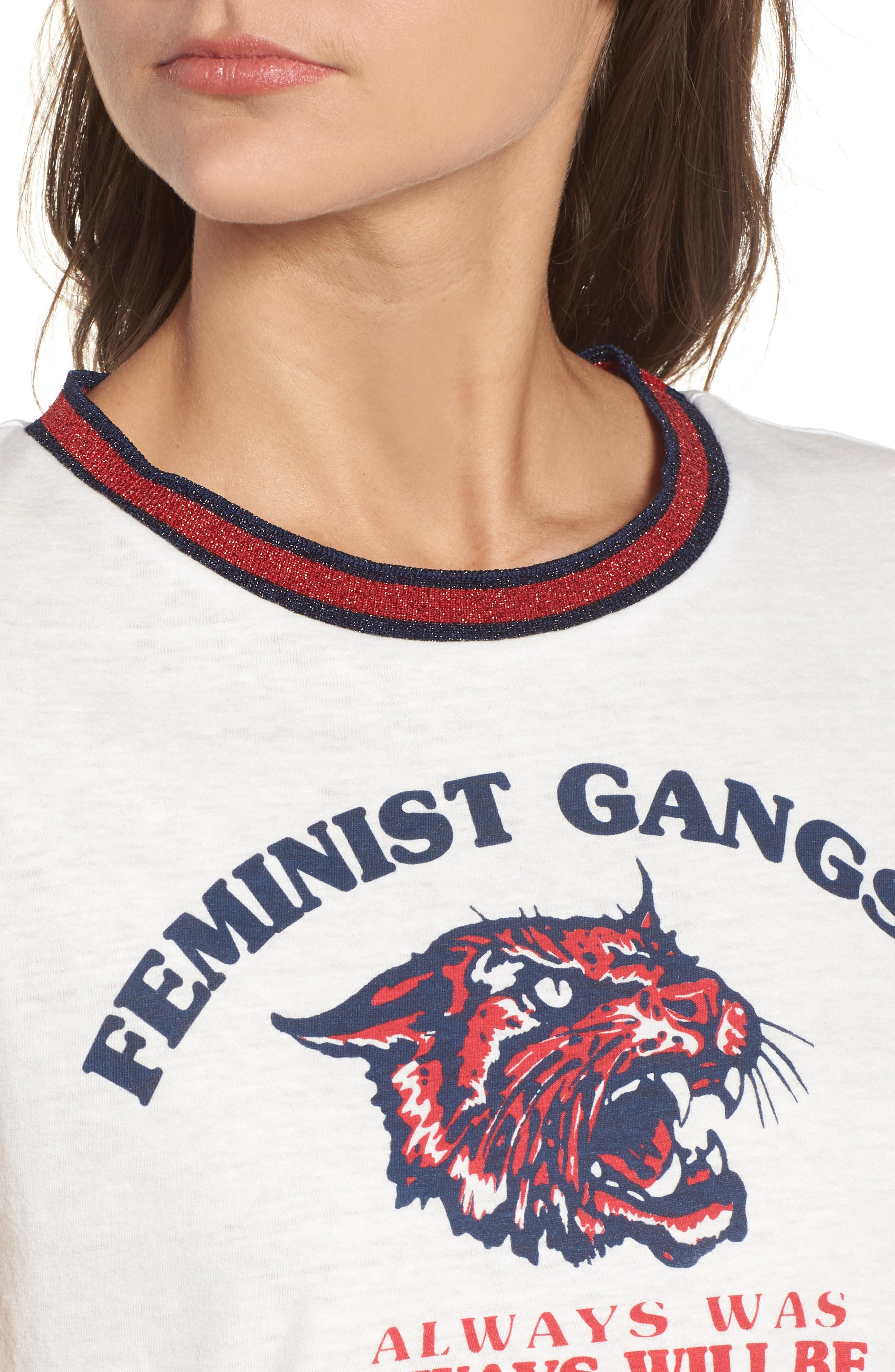 Feminist Gangsta Tee,                             Alternate thumbnail 4, color,