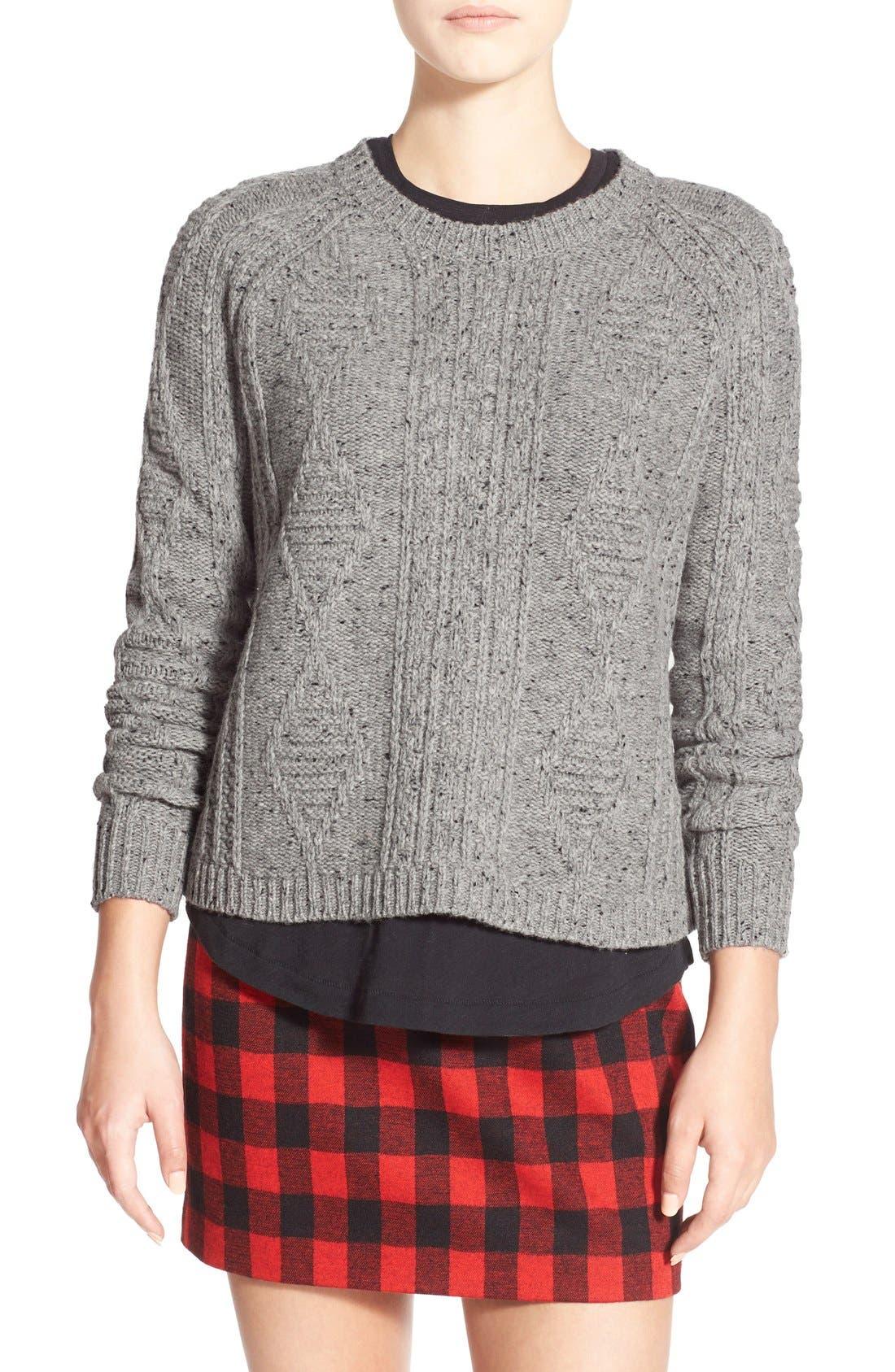 MADEWELL,                             'Palisade' Back Zip Sweater,                             Main thumbnail 1, color,                             020