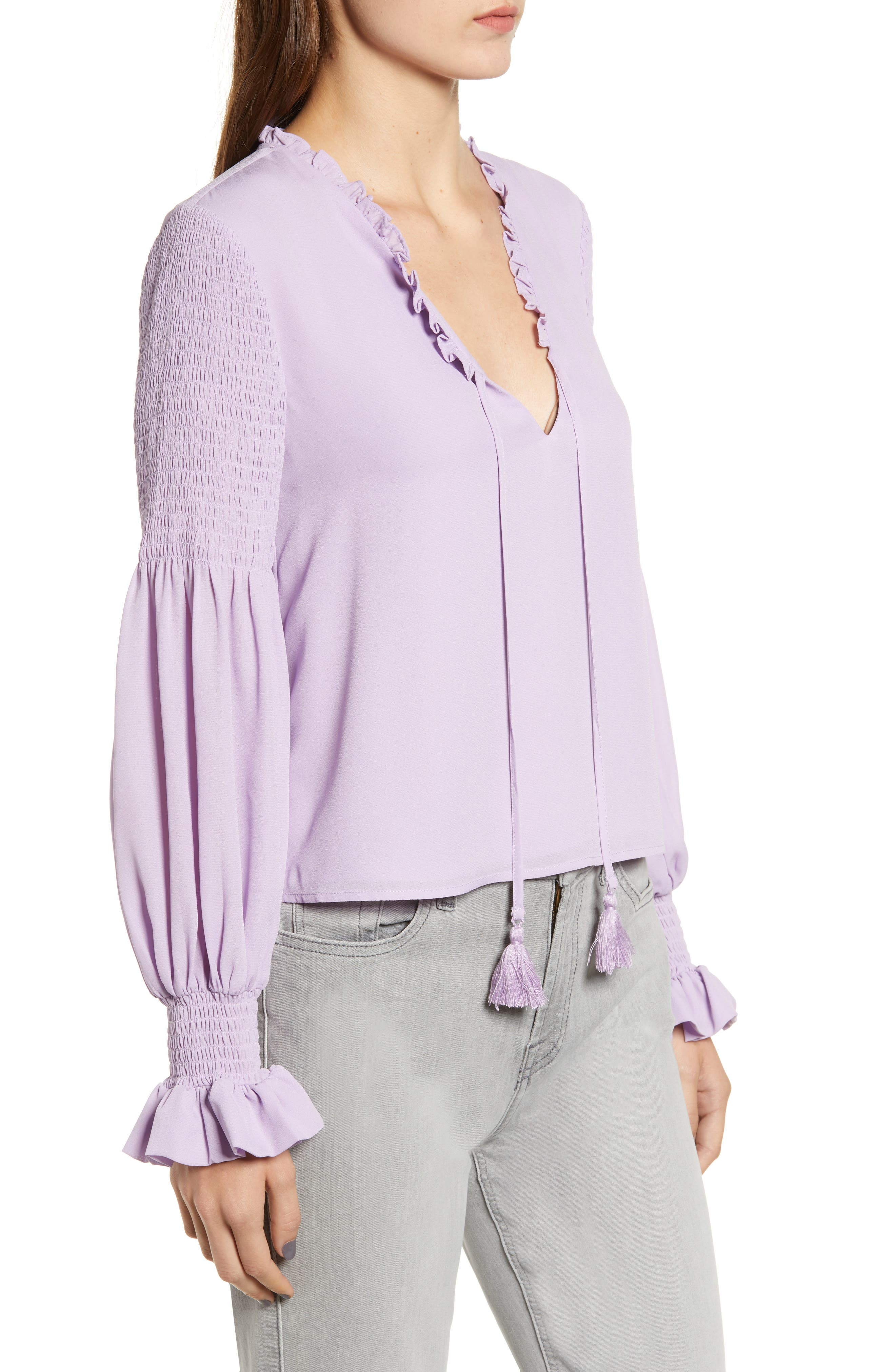 Penelope Ruffle Top,                             Alternate thumbnail 3, color,                             LILAC