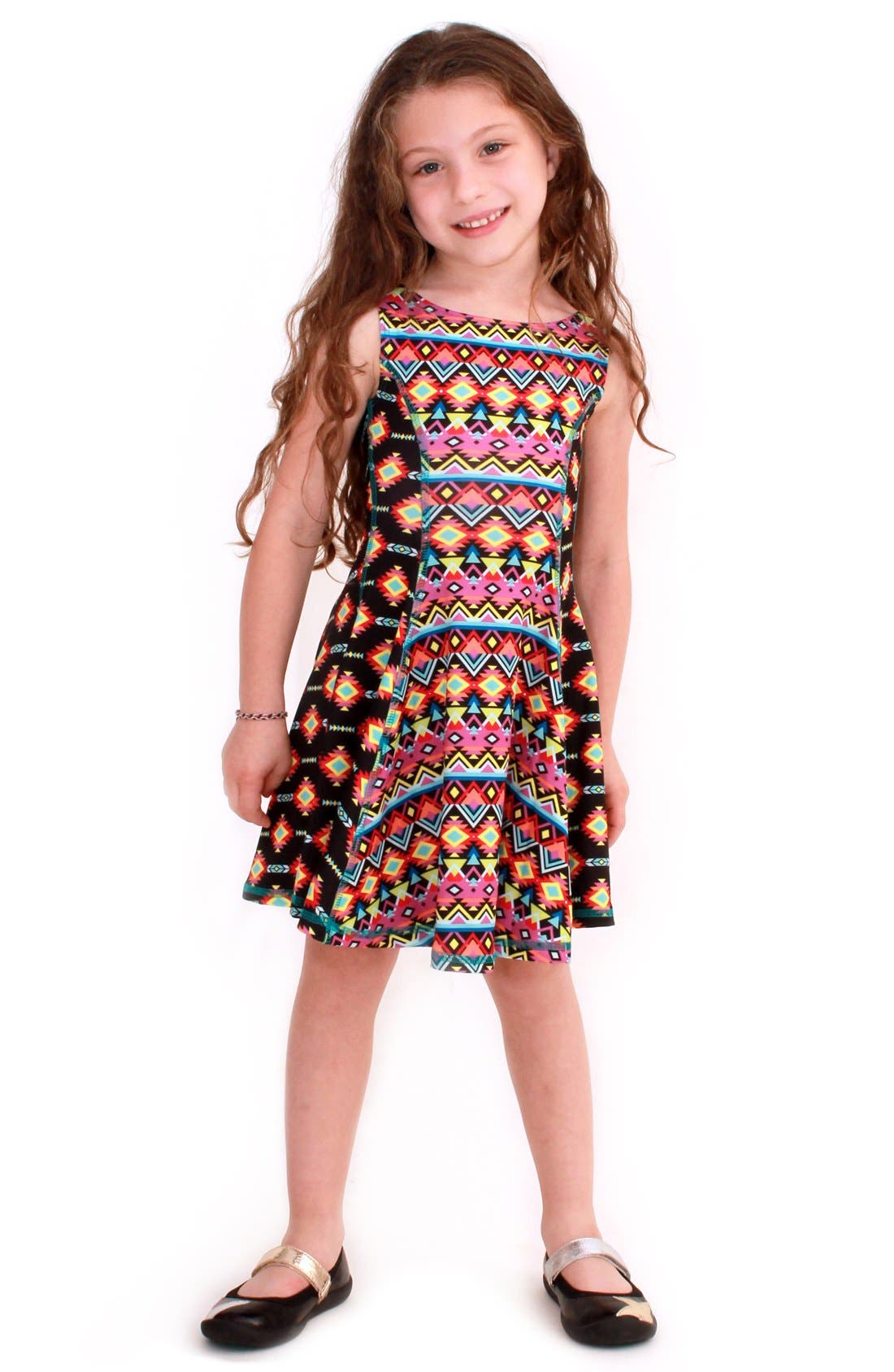 Flow Mixed Print Dress,                             Main thumbnail 2, color,