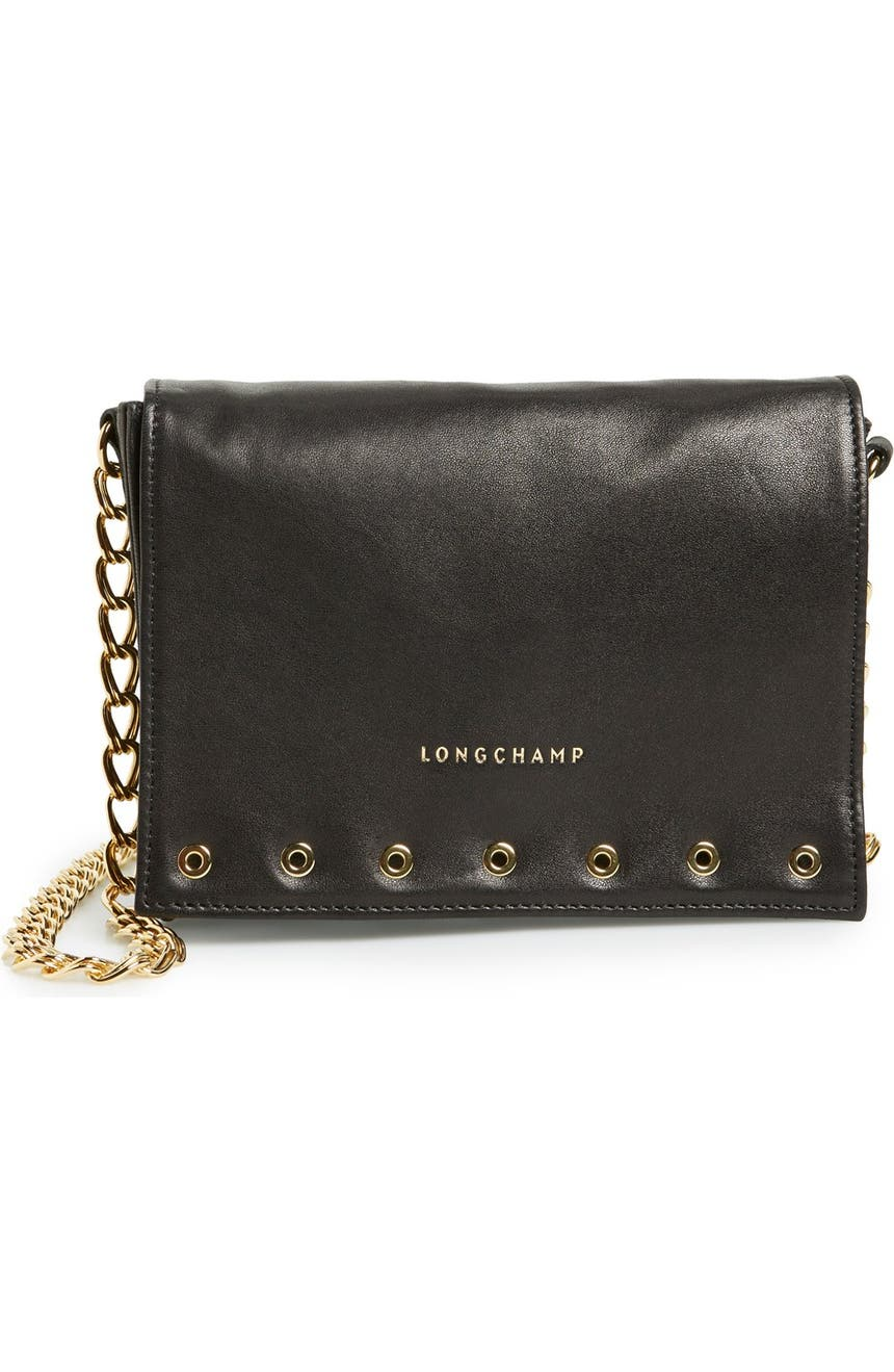 Longchamp  Small Paris Rocks  Leather Crossbody Bag  4d9e8d459b1be
