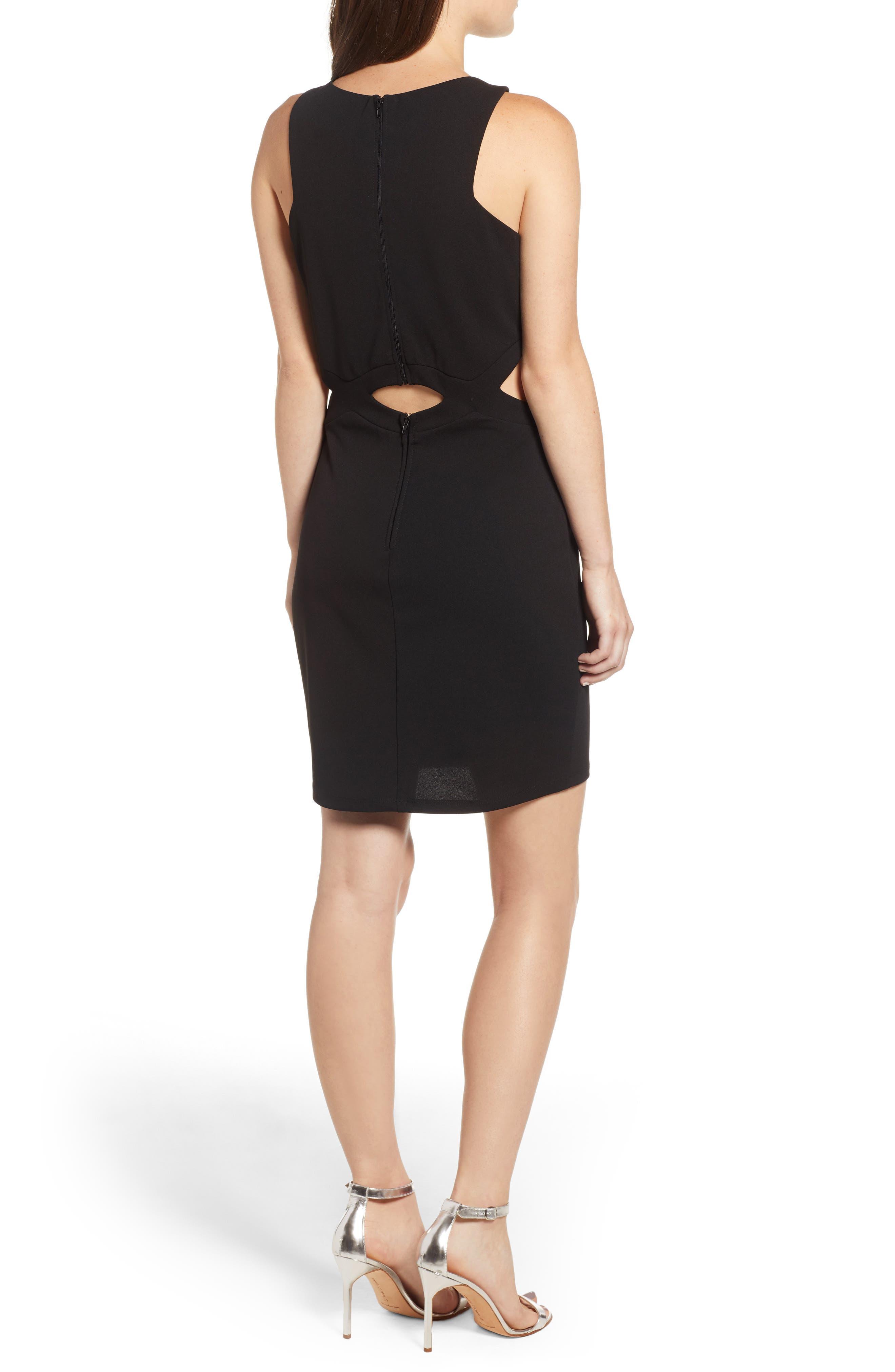 Scuba Dress,                             Alternate thumbnail 2, color,                             BLACK