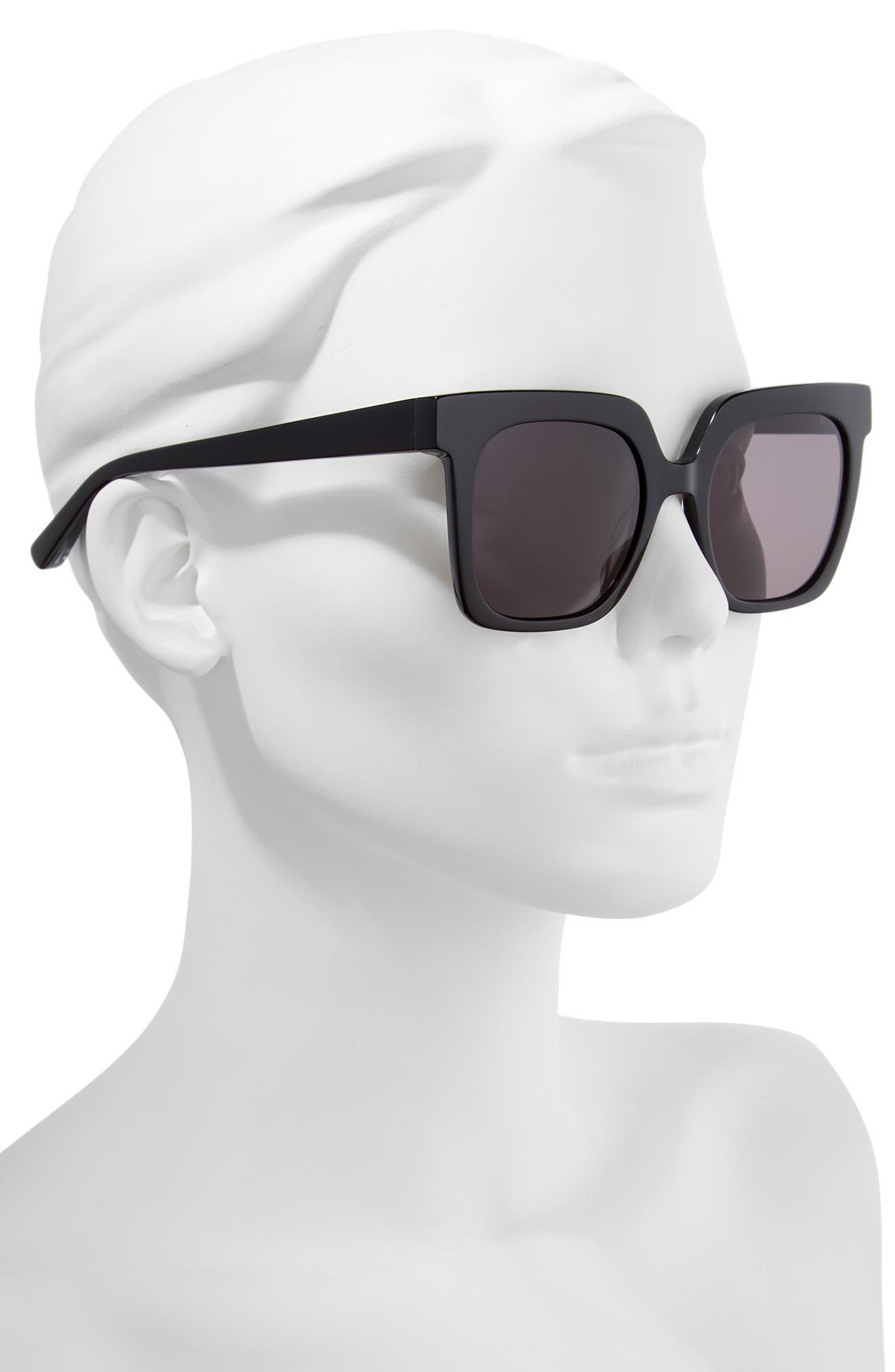 Rae 51mm Square Sunglasses,                             Alternate thumbnail 2, color,                             001
