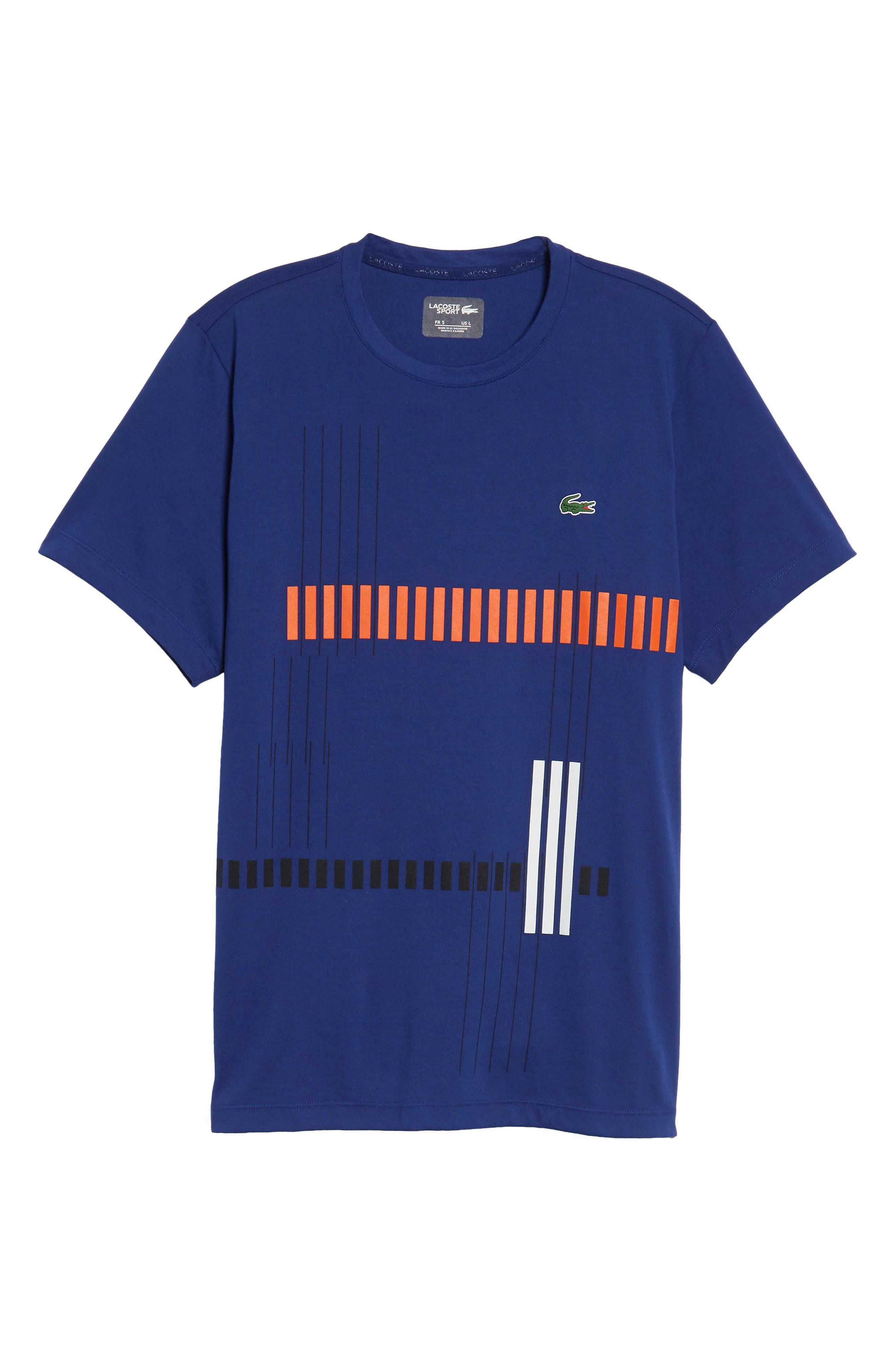Tech Vertical Stripe Graphic T-Shirt,                             Alternate thumbnail 18, color,
