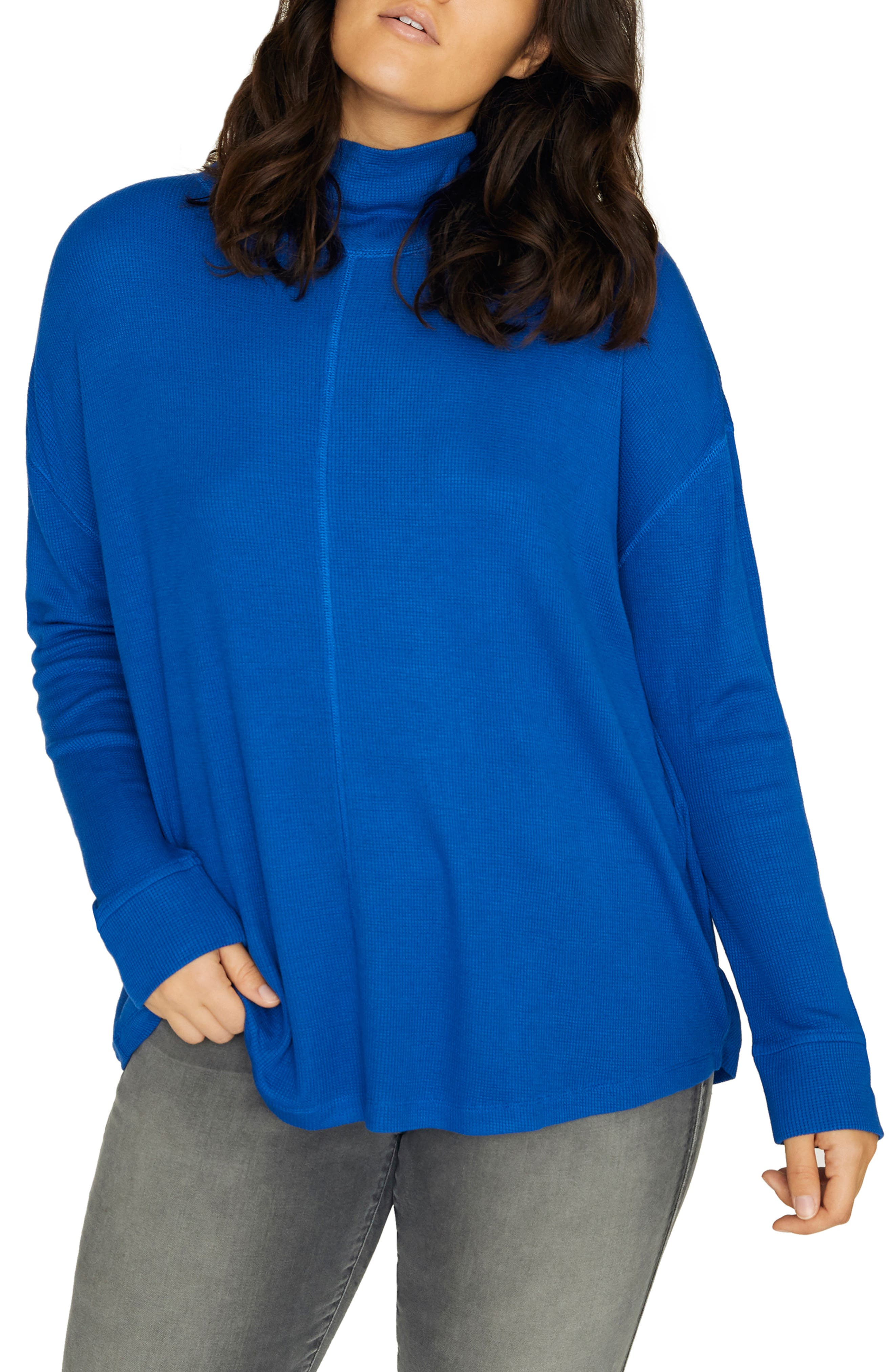 Plus Size Sanctuary Highroad Thermal Tee, Blue