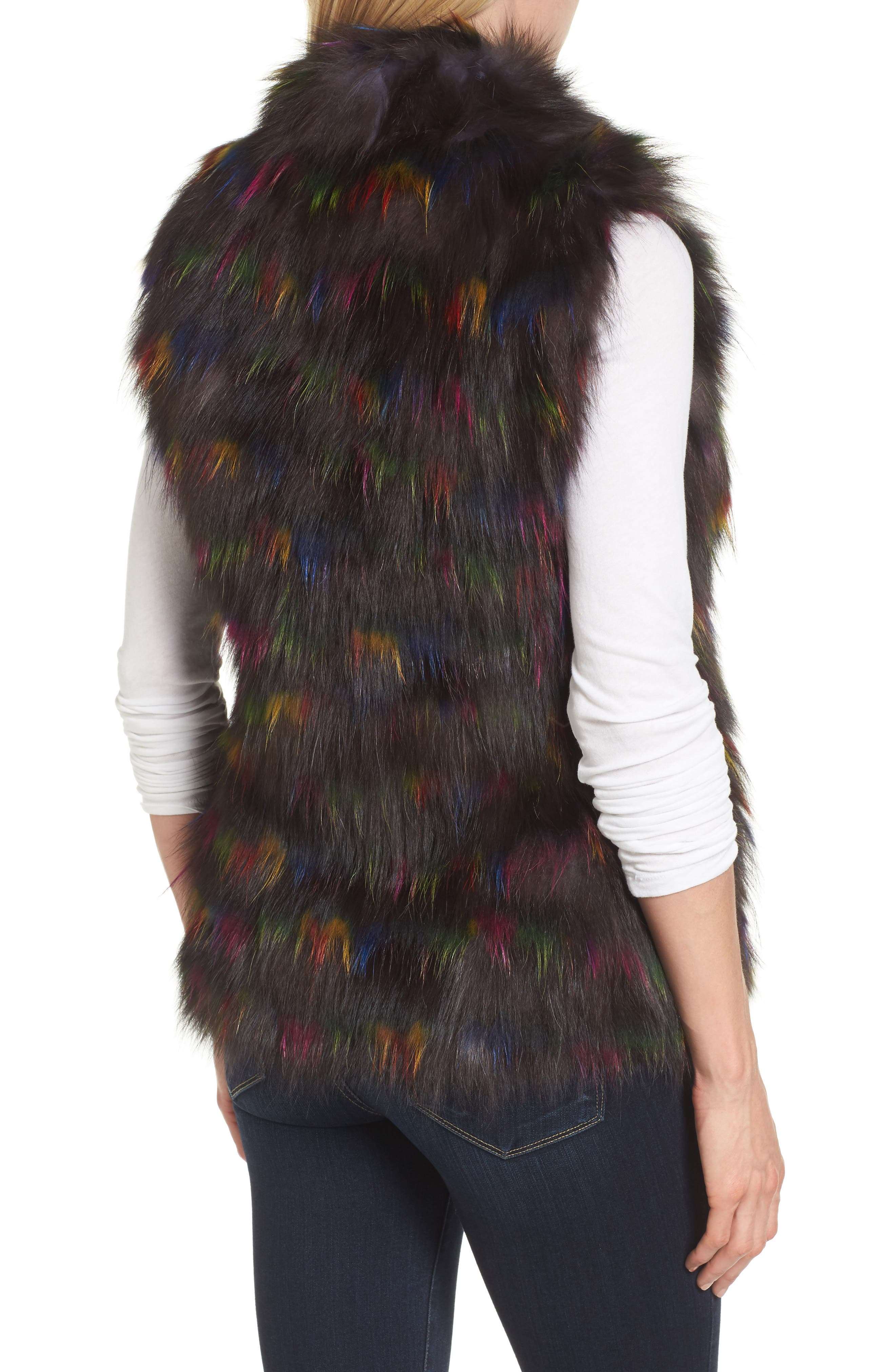 Genuine Fox Fur Vest,                             Alternate thumbnail 2, color,                             200
