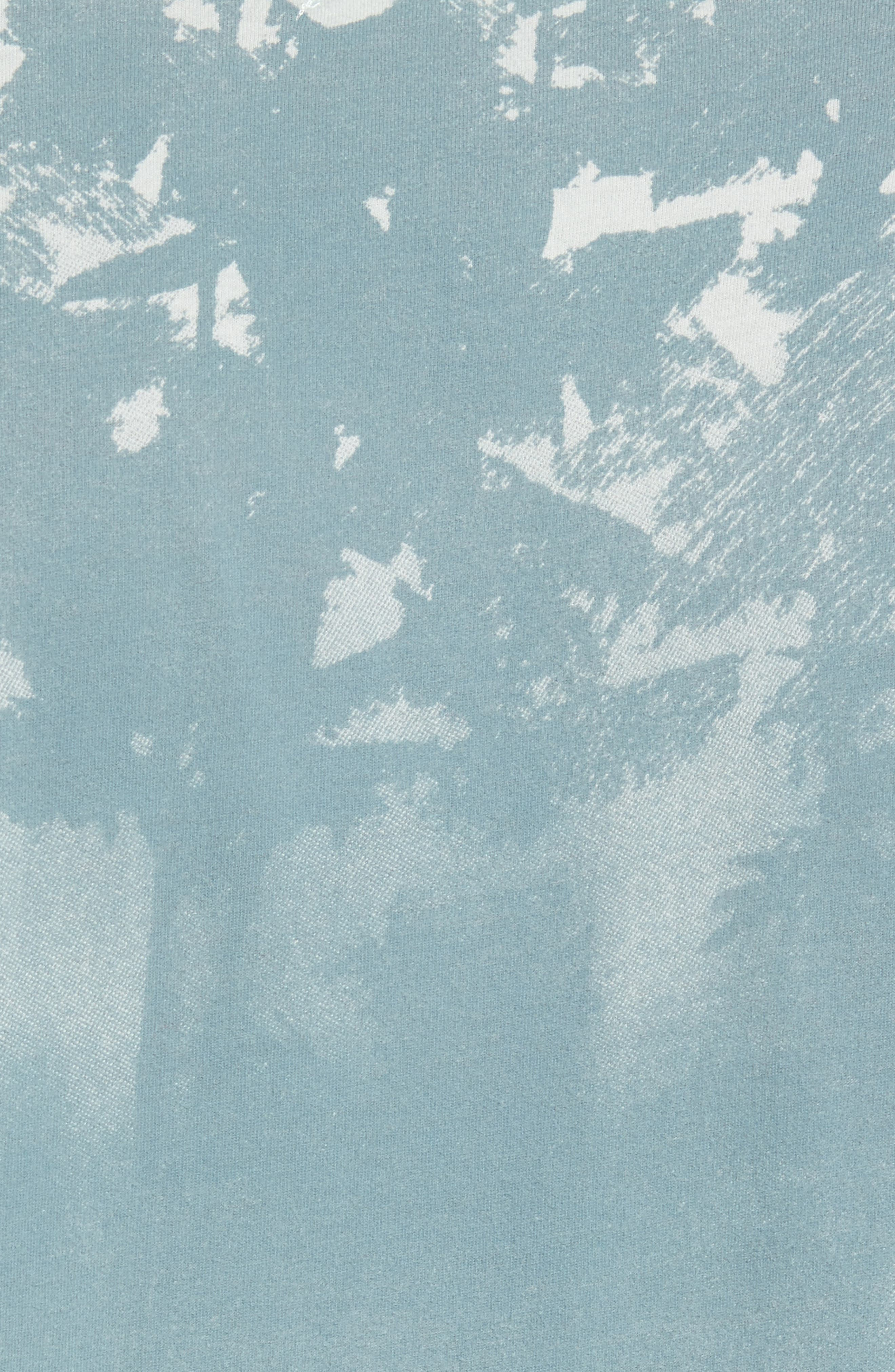 'Lost' Shadow Palm Print Crewneck T-Shirt,                             Alternate thumbnail 5, color,                             400