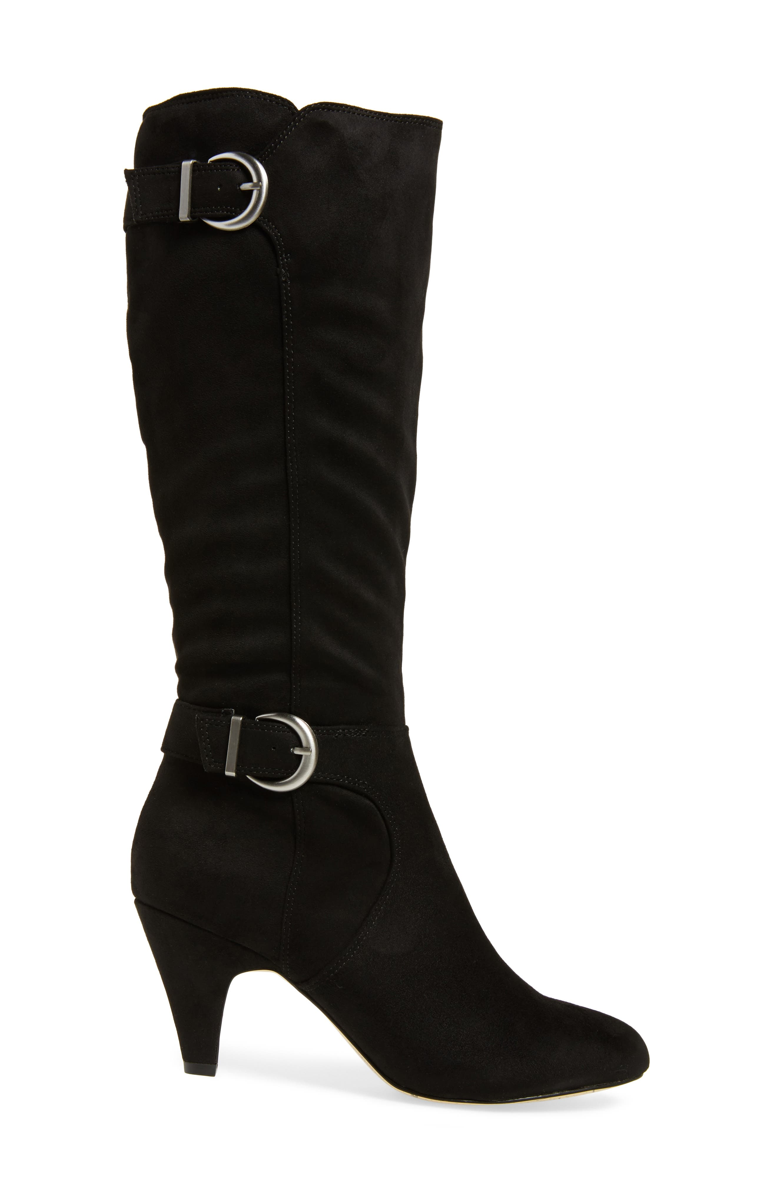 Toni II Knee High Boot,                             Alternate thumbnail 3, color,                             BLACK SUEDE
