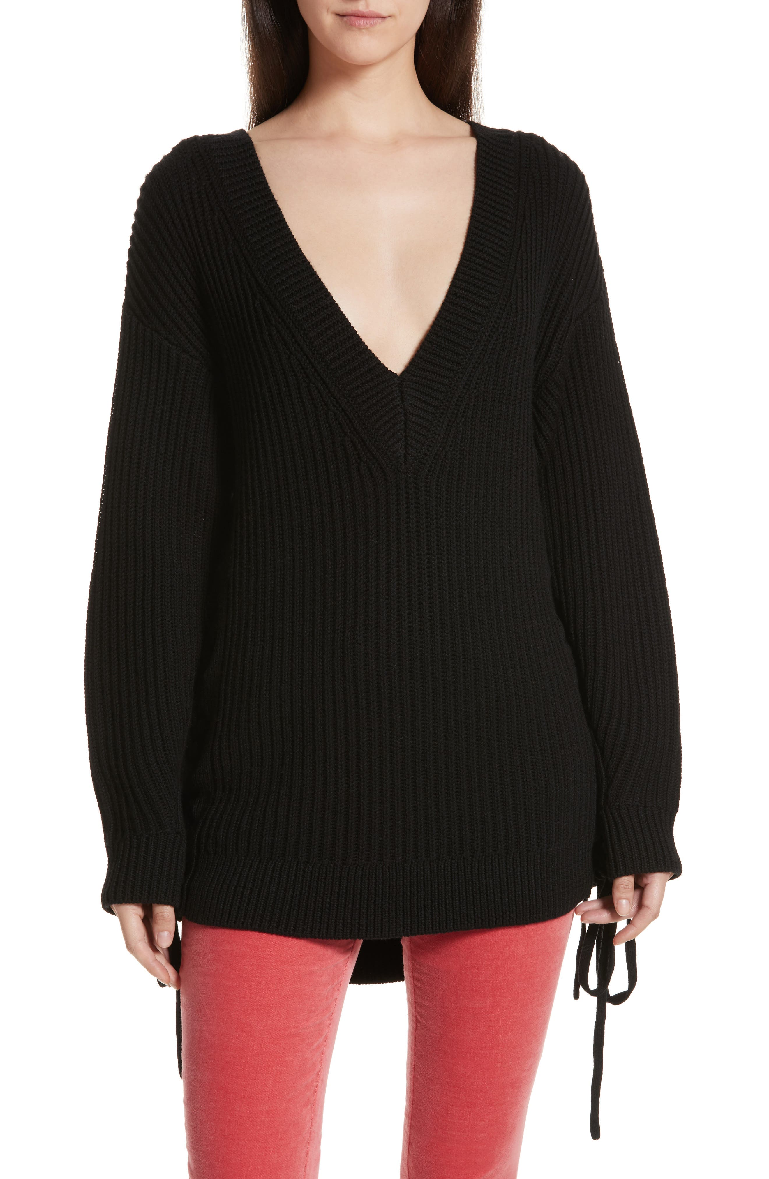 Ivy Side Tie Sweater,                         Main,                         color, 001