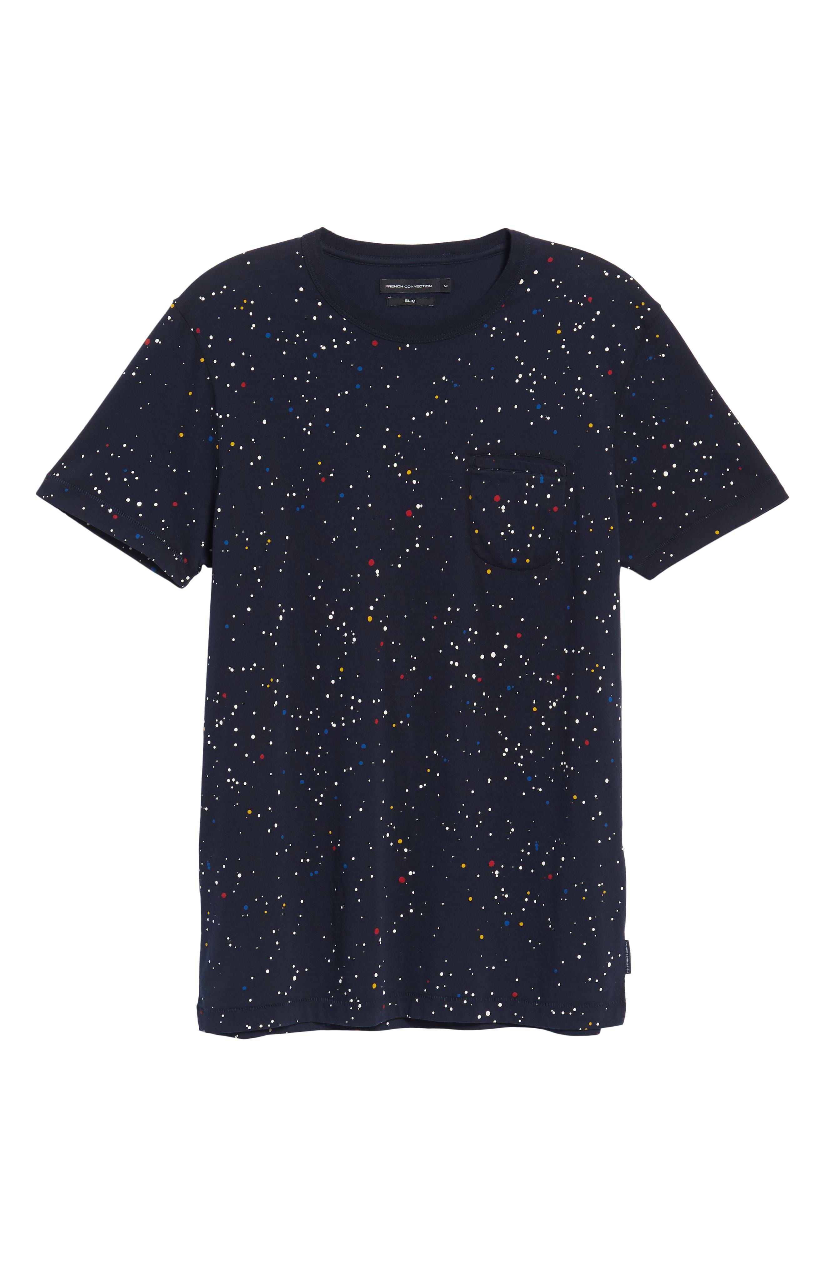Star Splatter Crewneck T-Shirt,                             Alternate thumbnail 6, color,                             MARINE BLUE