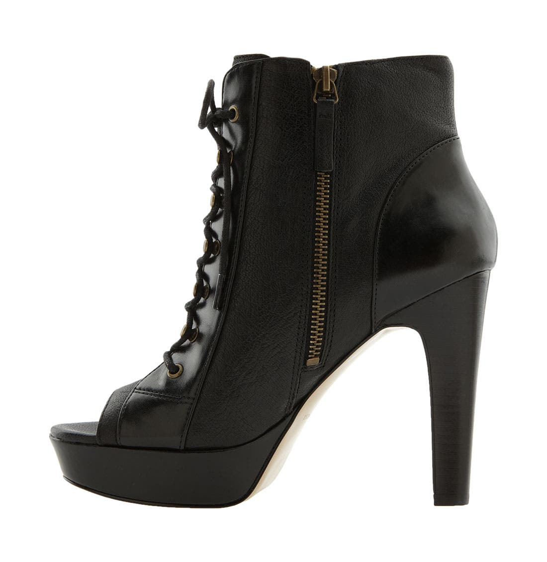 NINE WEST,                             'Buren' Ankle Boot,                             Alternate thumbnail 4, color,                             001
