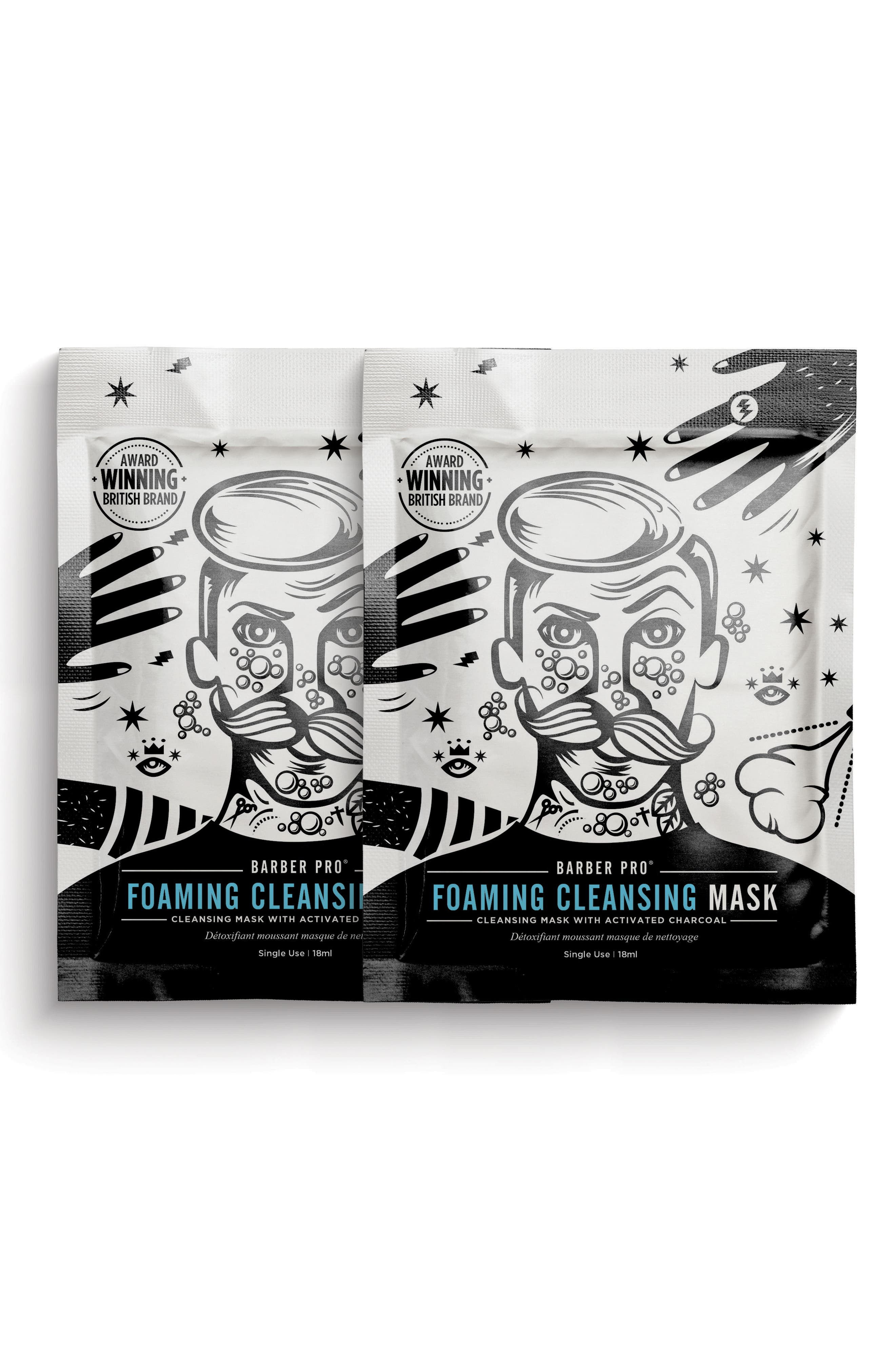 Foaming Cleansing Mask Duo,                             Main thumbnail 1, color,                             NO COLOR