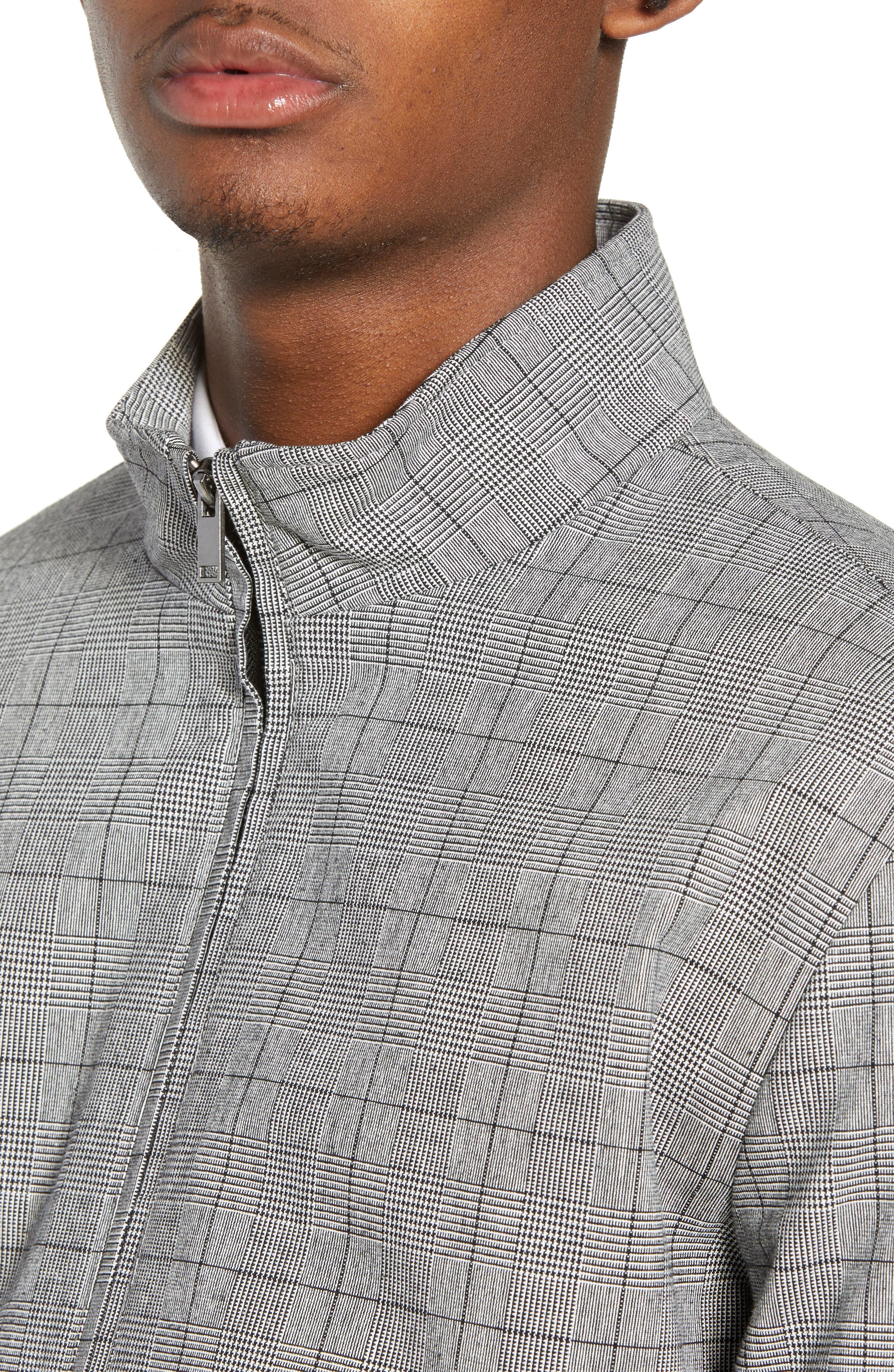 Check Harrington Jacket,                             Alternate thumbnail 4, color,                             020