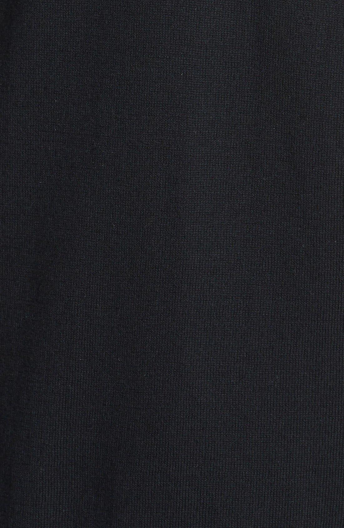 Faux Leather Trim Cardigan,                             Alternate thumbnail 2, color,                             001