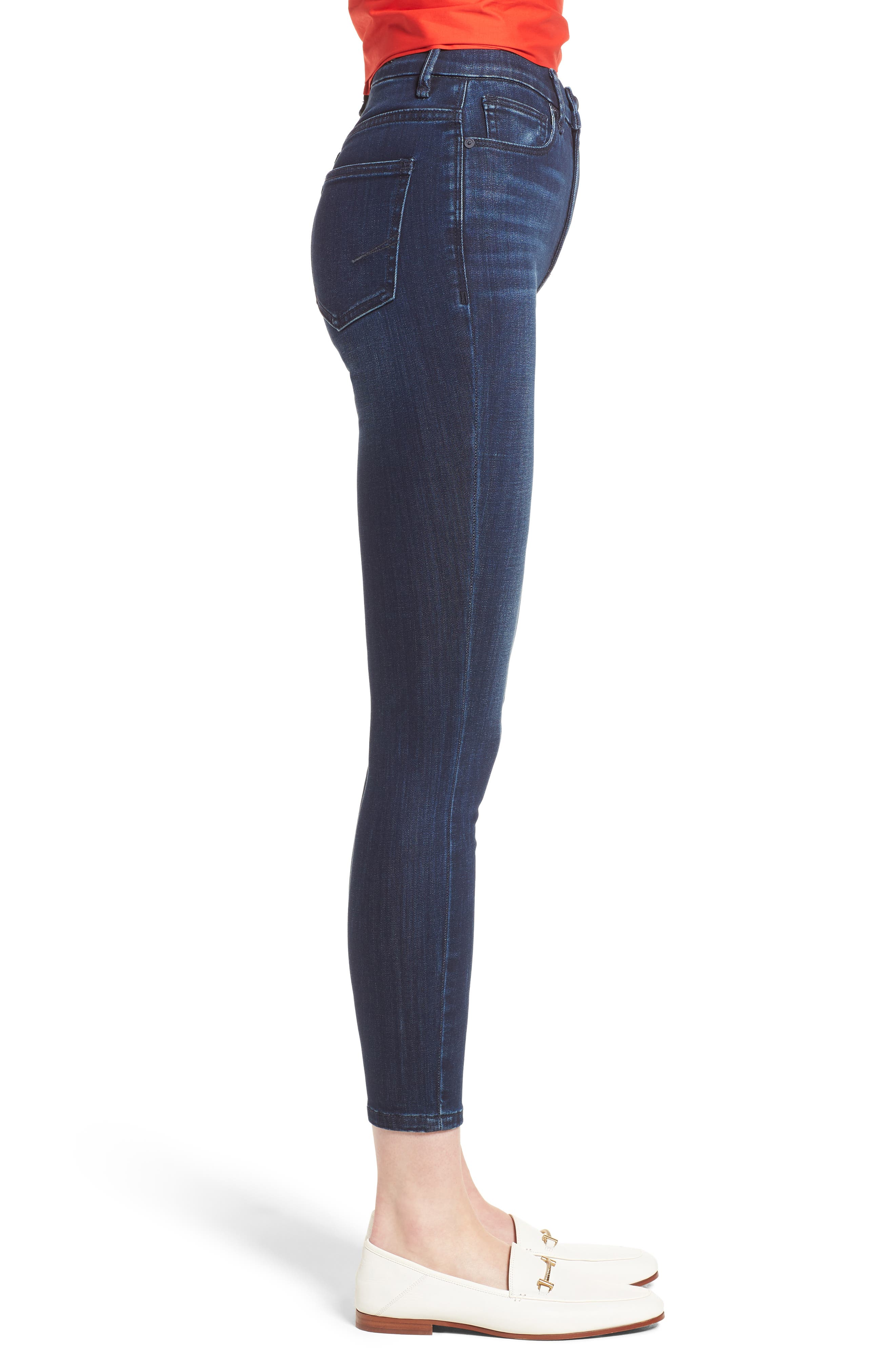 Cressa High Rise Ankle Skinny Jeans,                             Alternate thumbnail 3, color,                             SUGAR MAPLE
