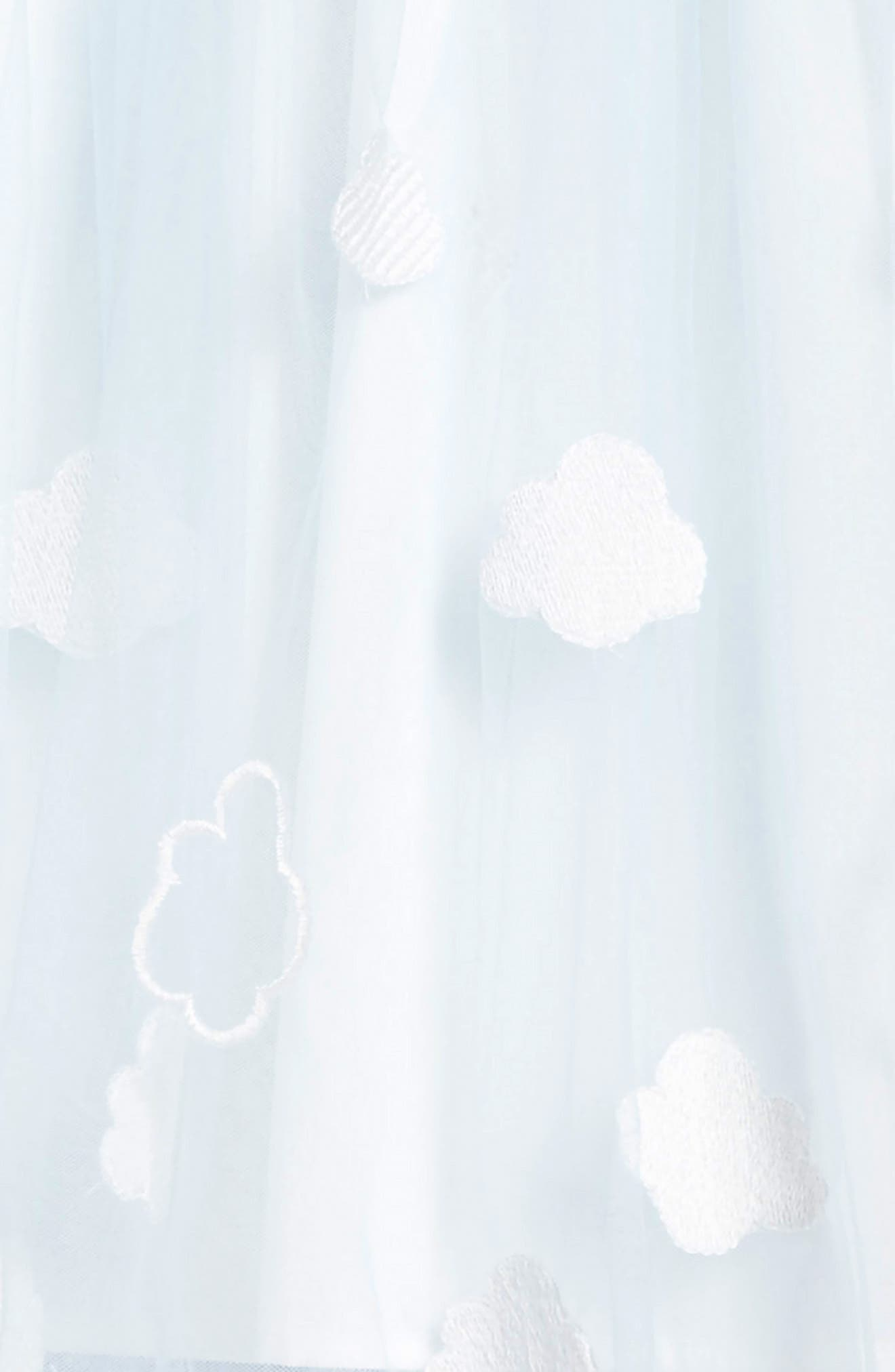 Embroidered Cloud Dress,                             Alternate thumbnail 3, color,                             BLUE